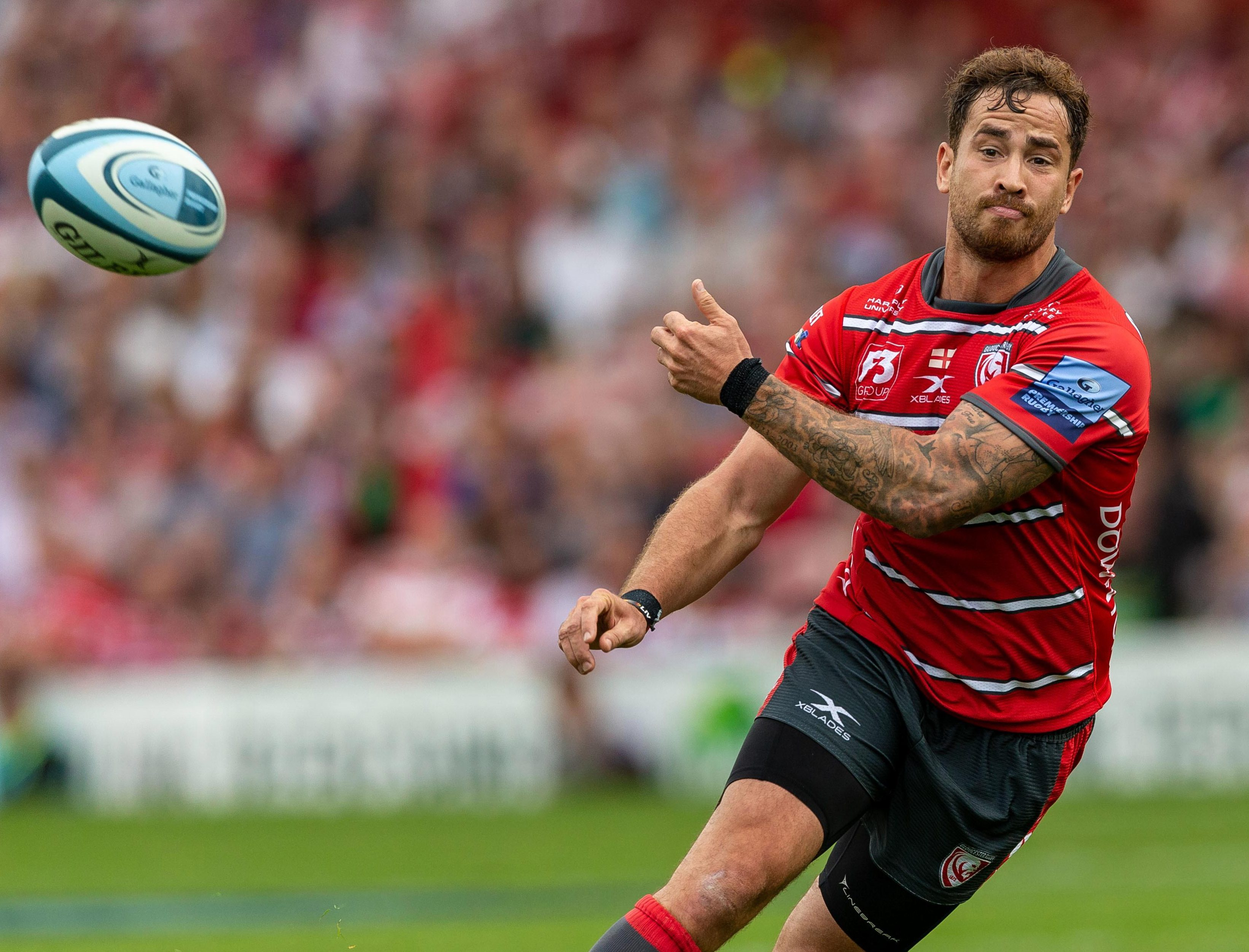 Danny Cipriani threw the pass of the round against Northampton Saints