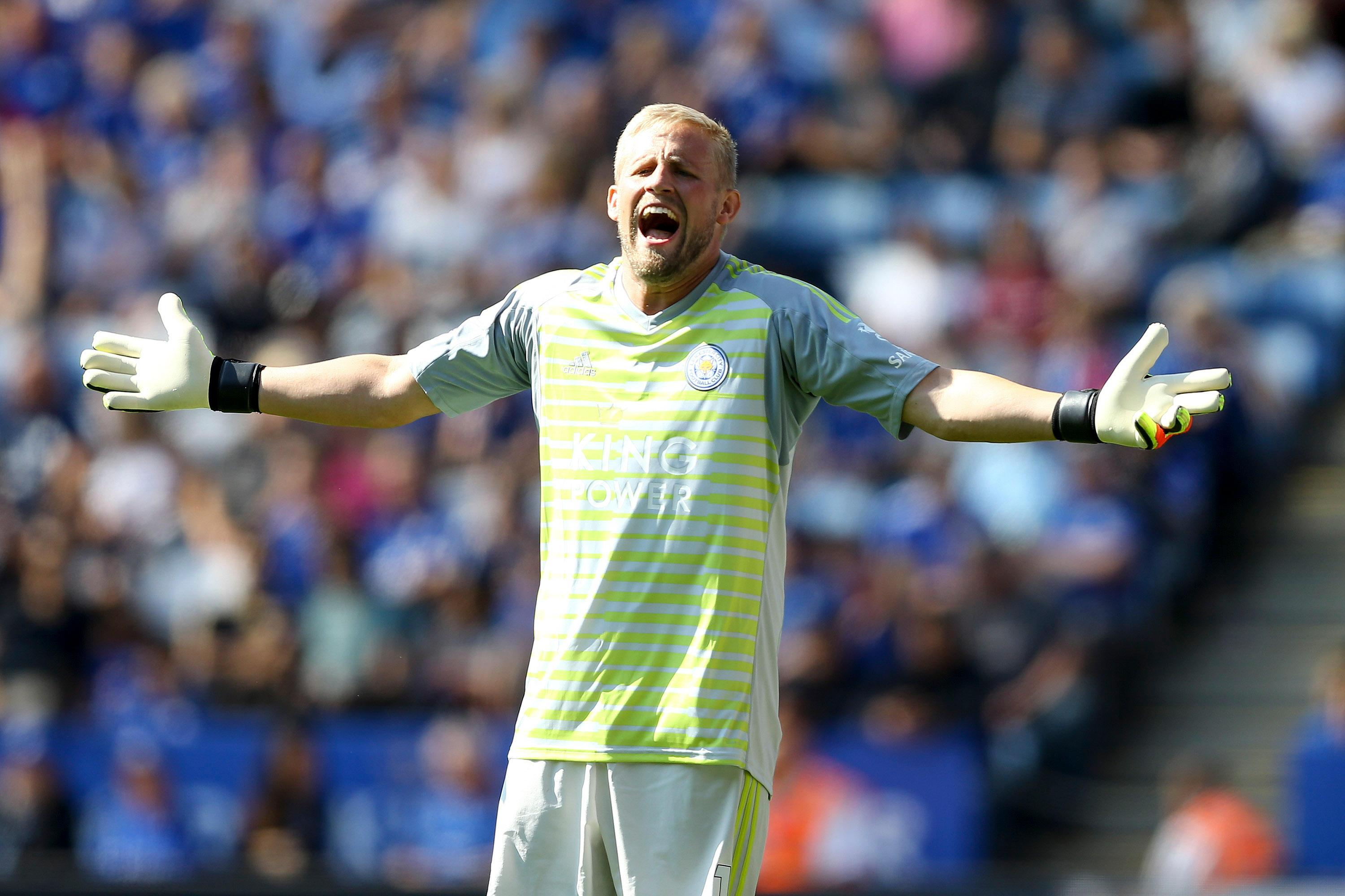 Kasper Schmeichel will not feature for Denmark against Slovakia or Wales, with only uncapped players in the squad