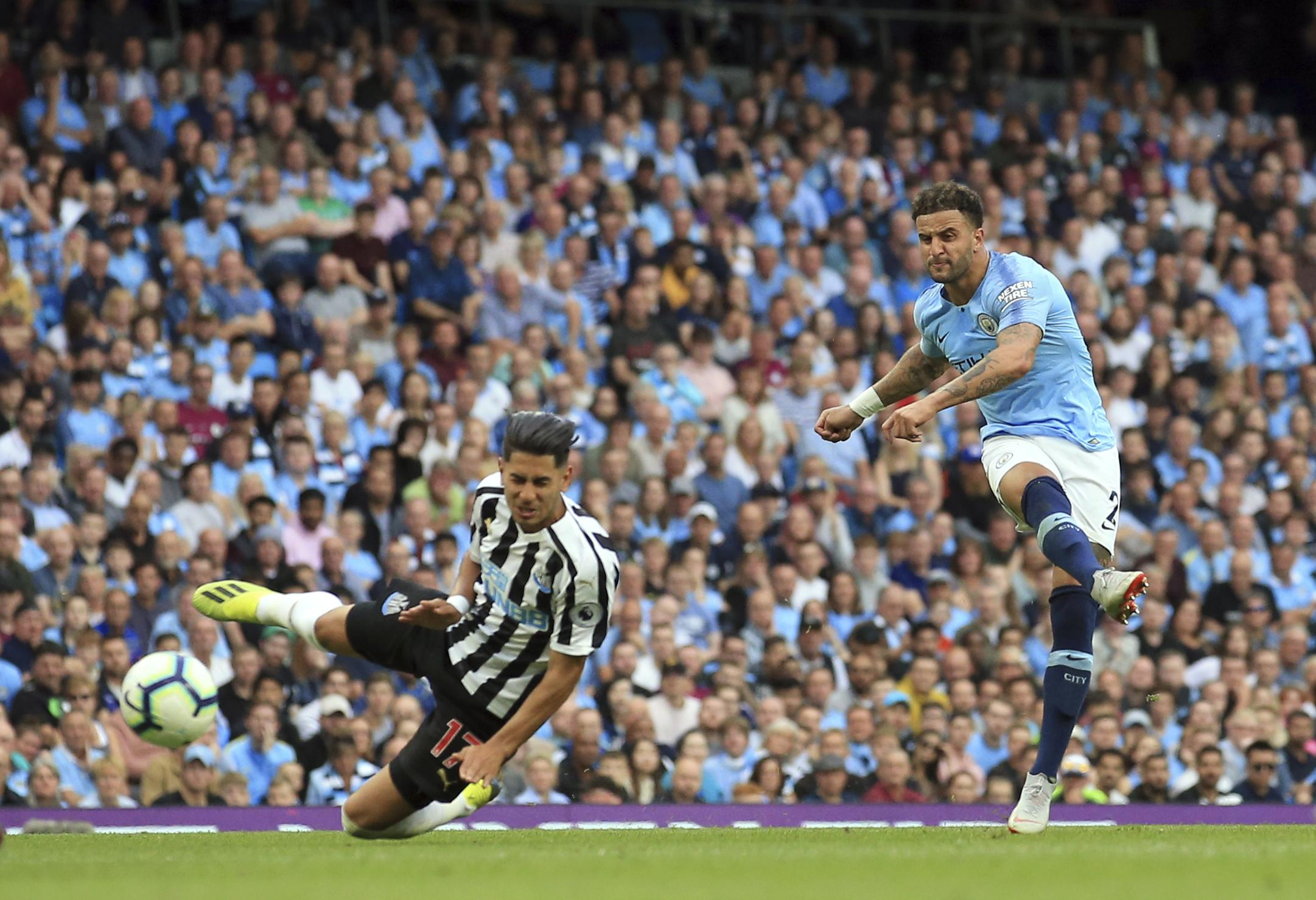 Kyle Walker scored the winner for the champions with a fantastic strike from distance
