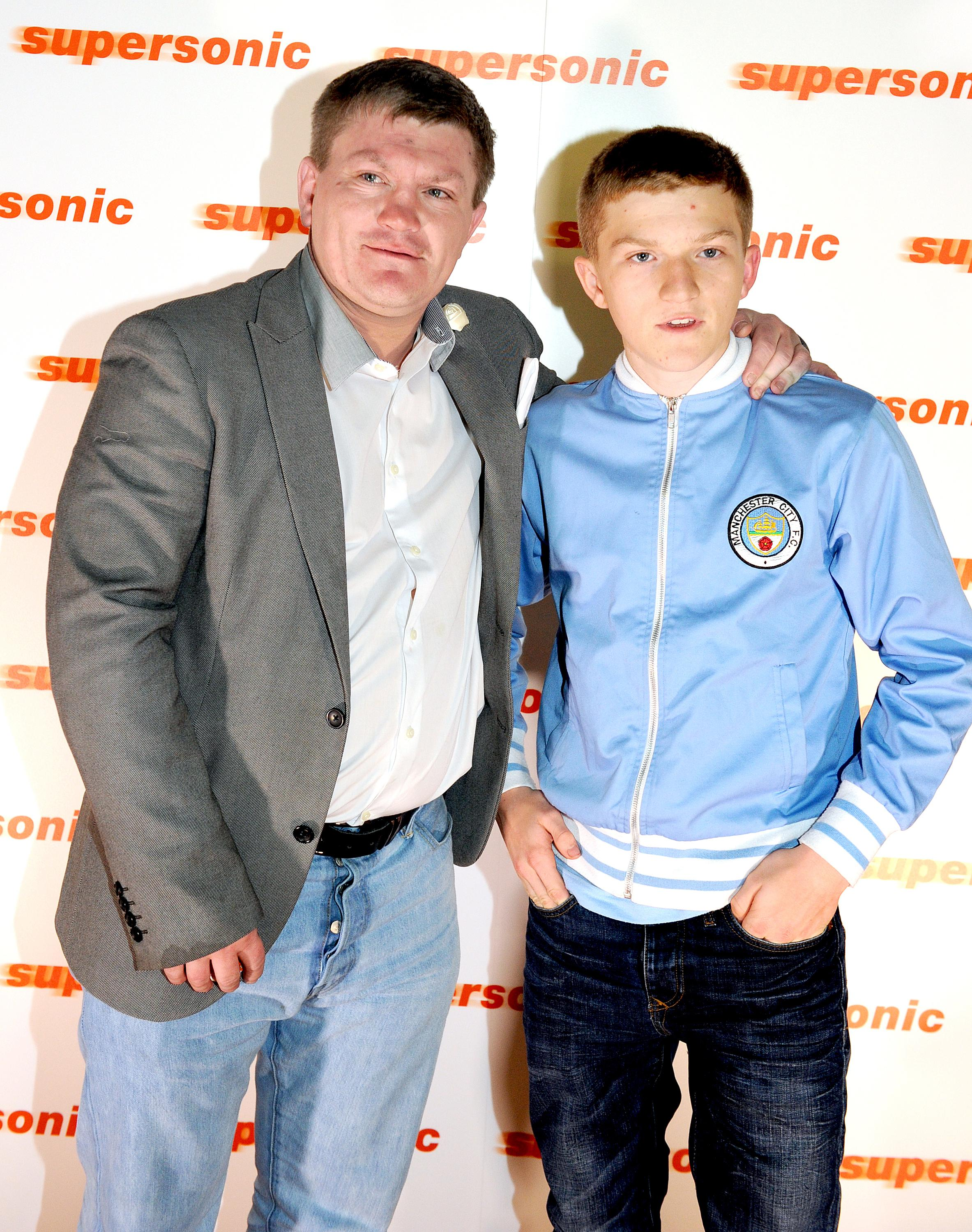 Ricky and his son Campbell Hatton, seen in 2016