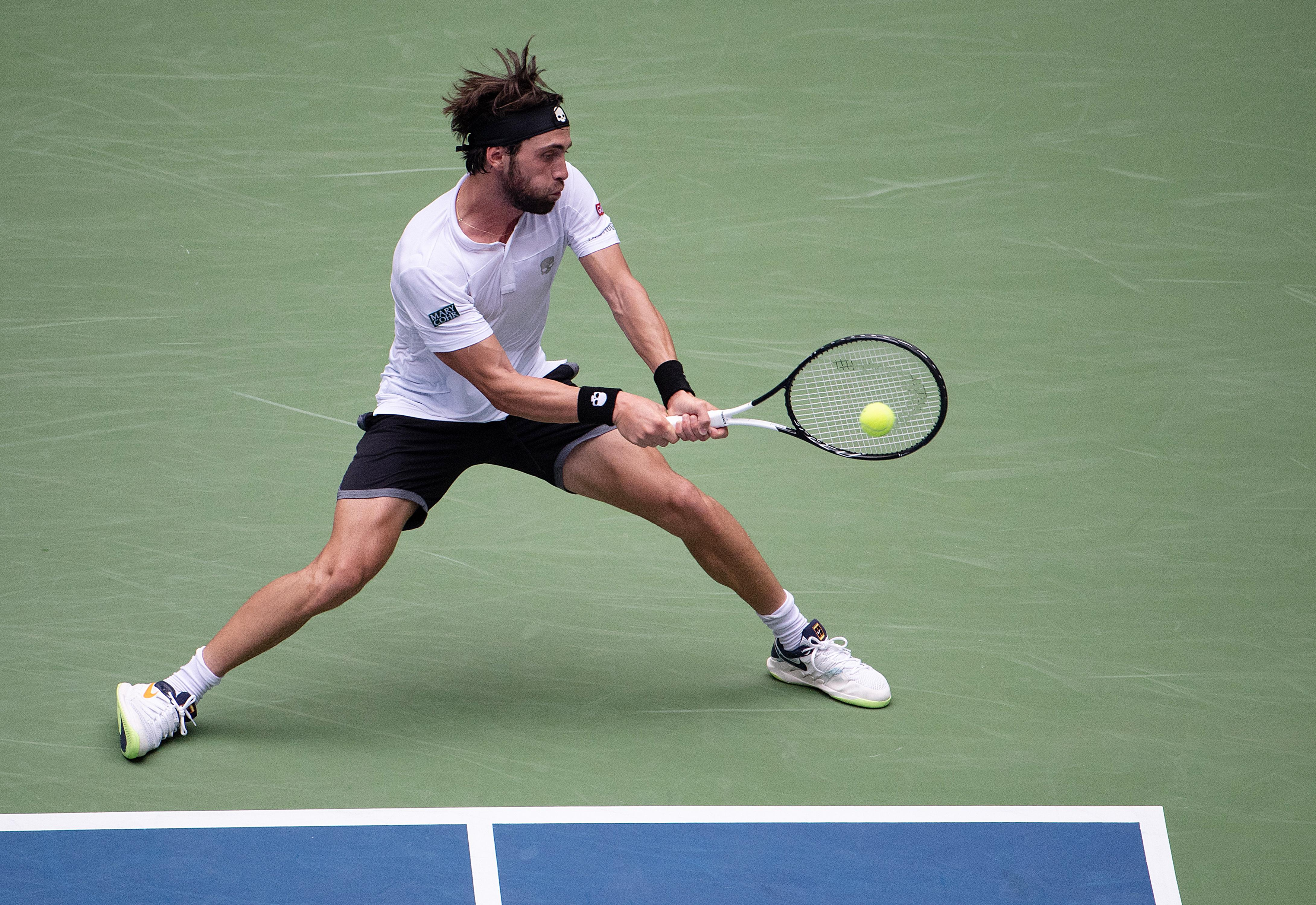 The 26-year-old played a fantastic third set to pull himself back into the match