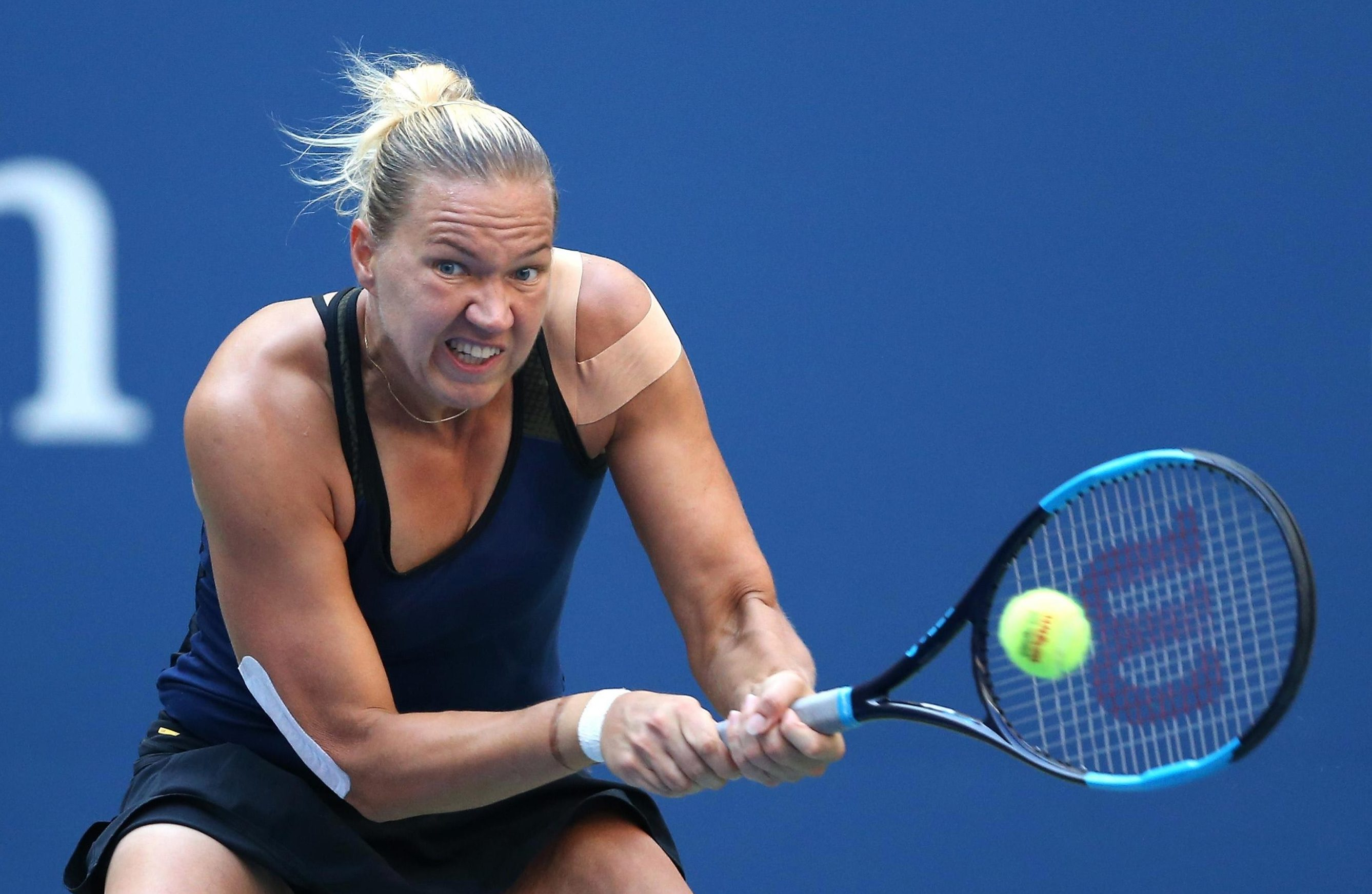 Kanepi is the first player at this years US Open to take a set off Williams
