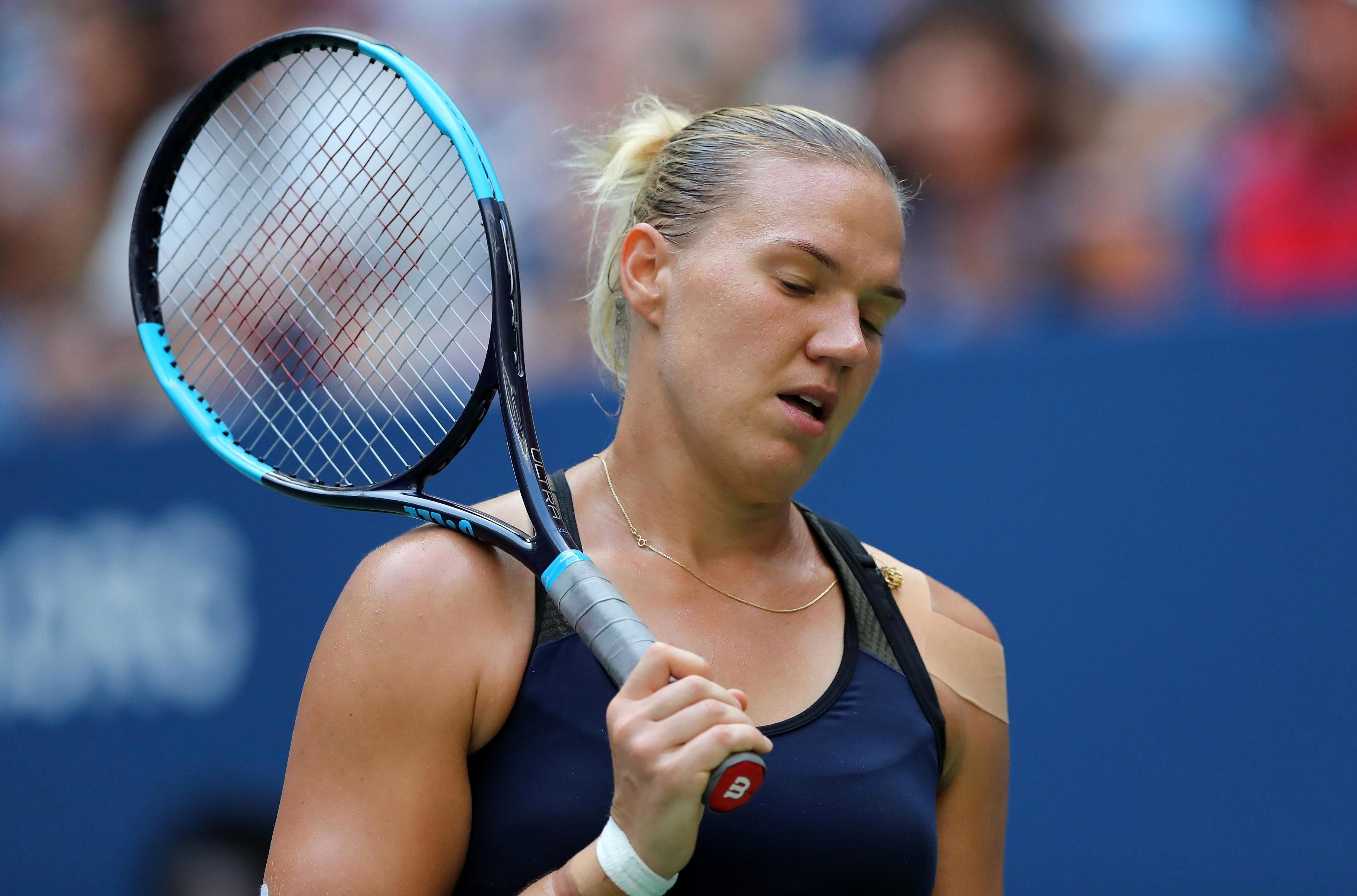 Kanepi knocked out world No1 and top seed Simona Halep in the first round