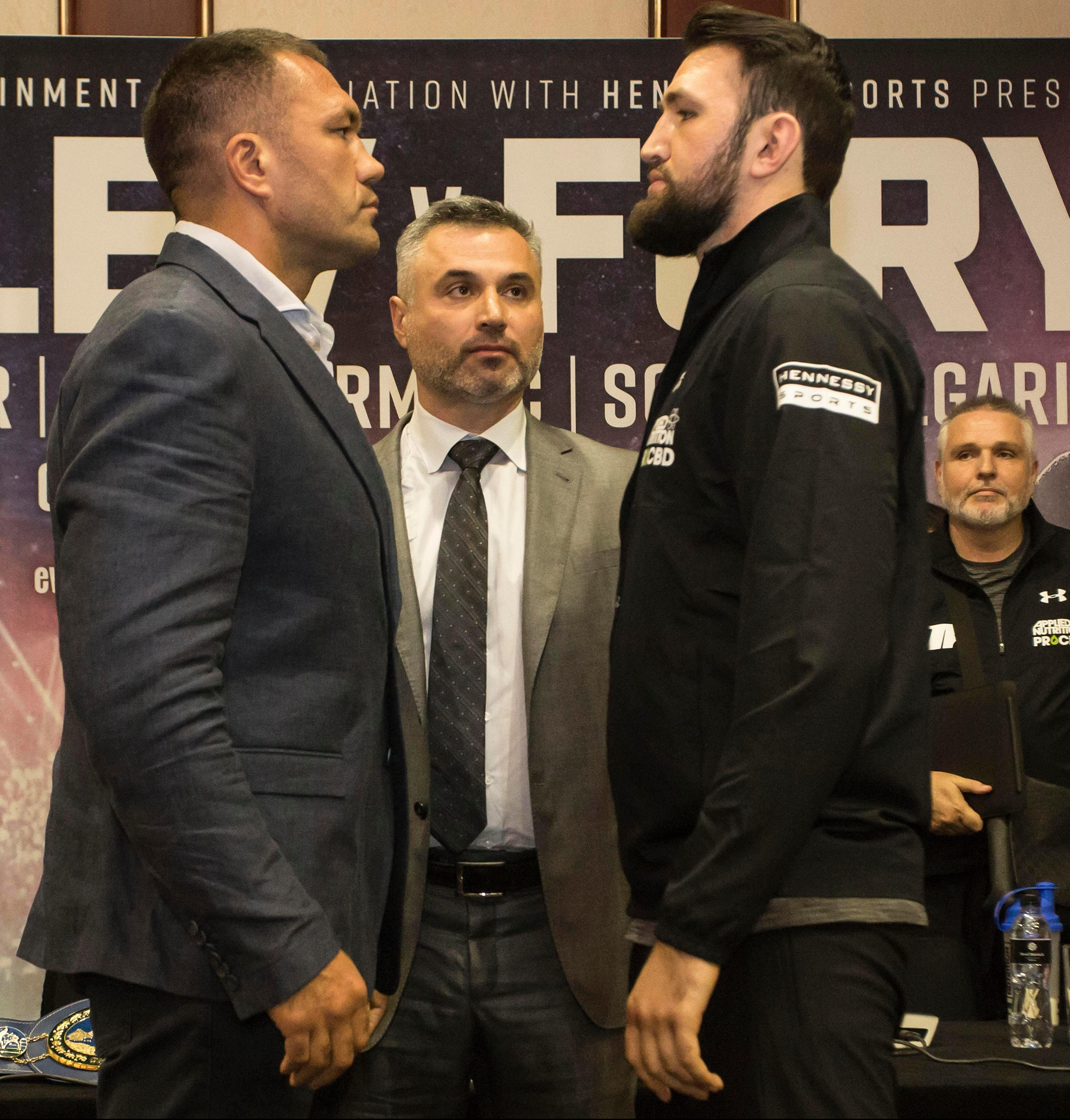 Bulgarian Kubrat Pulev will have home advantage over Hughie Fury