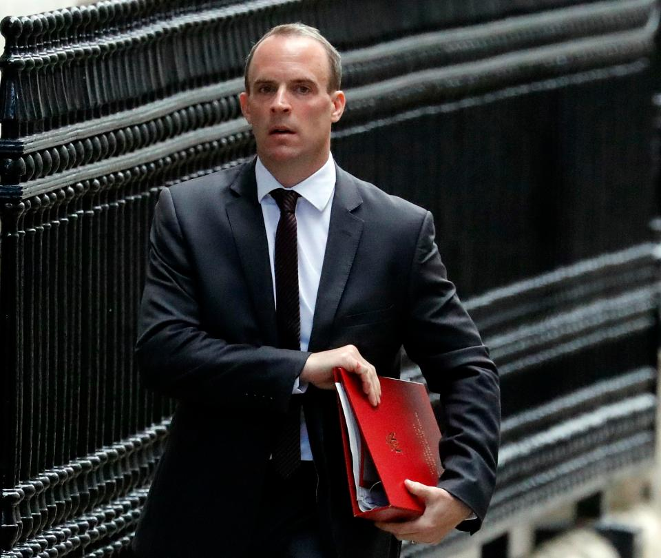 Brexit Secretary Dominc Raab has accused Labour of stalling the Brexit process which could take the UK 'back to square one'