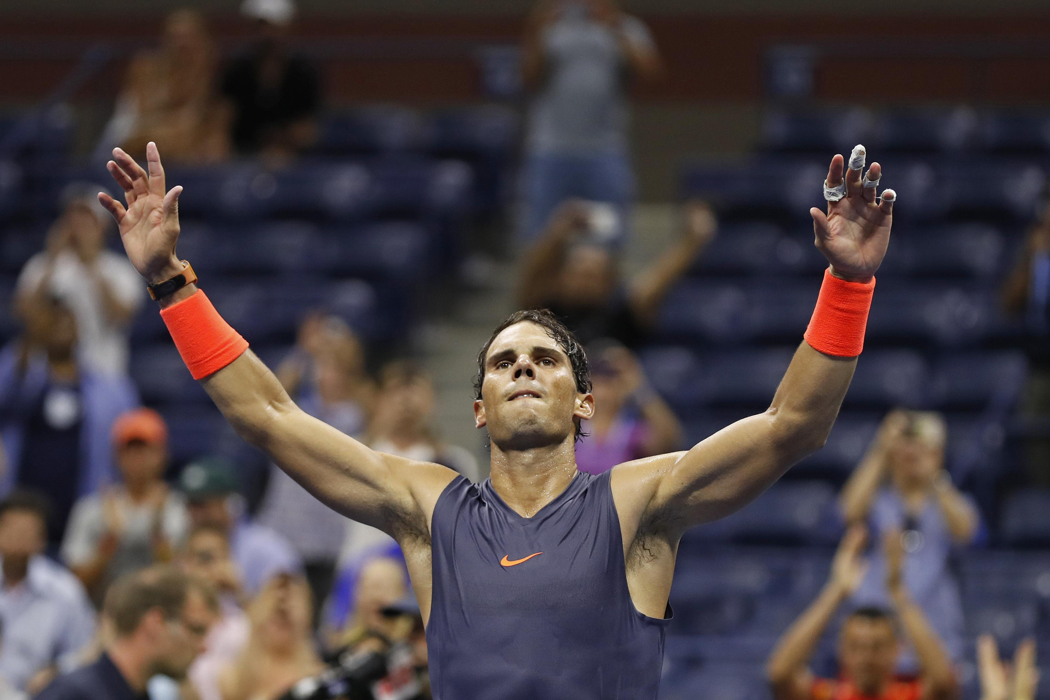 Rafa Nadal is into the US Open semi-finals after a thrilling five-set victory