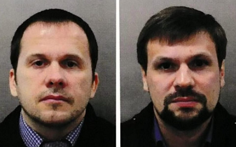Russian intelligence agents Alexander Mishkin and Anatoliy Chepiga travelled to Britain under their fake names