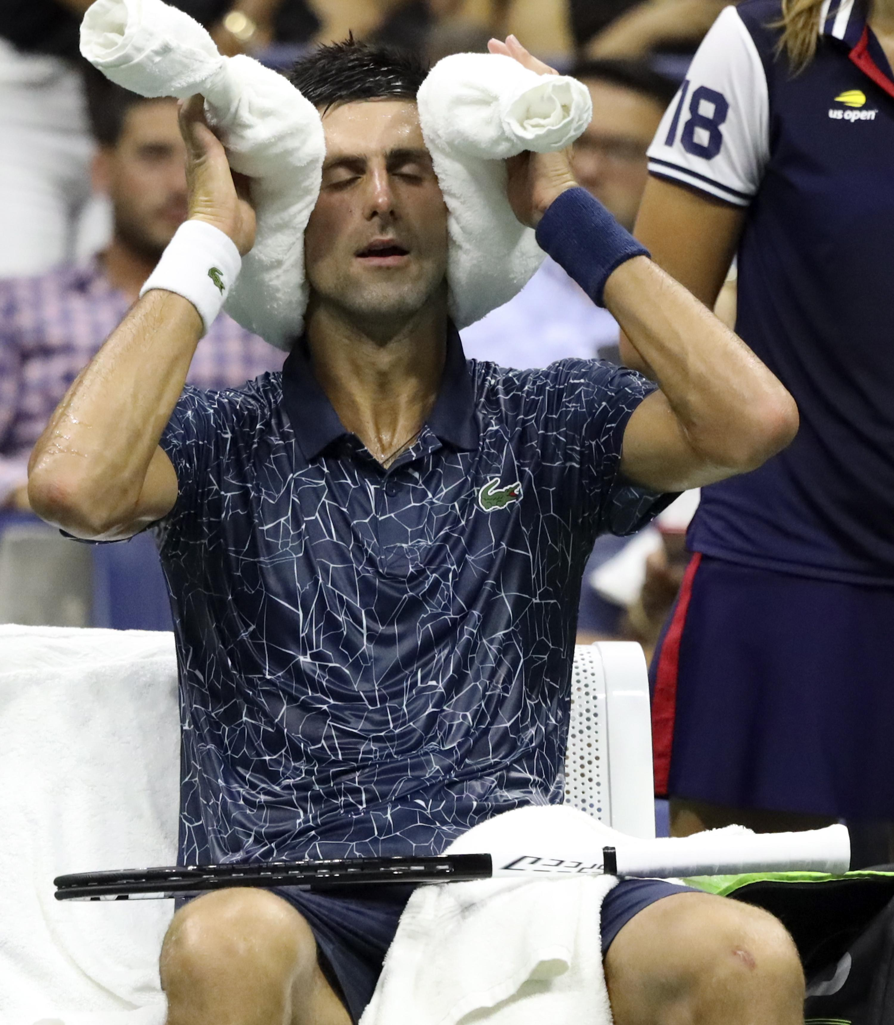 Novak Djokovic says he needs ten shirts for every game at the US Open due to weather conditions