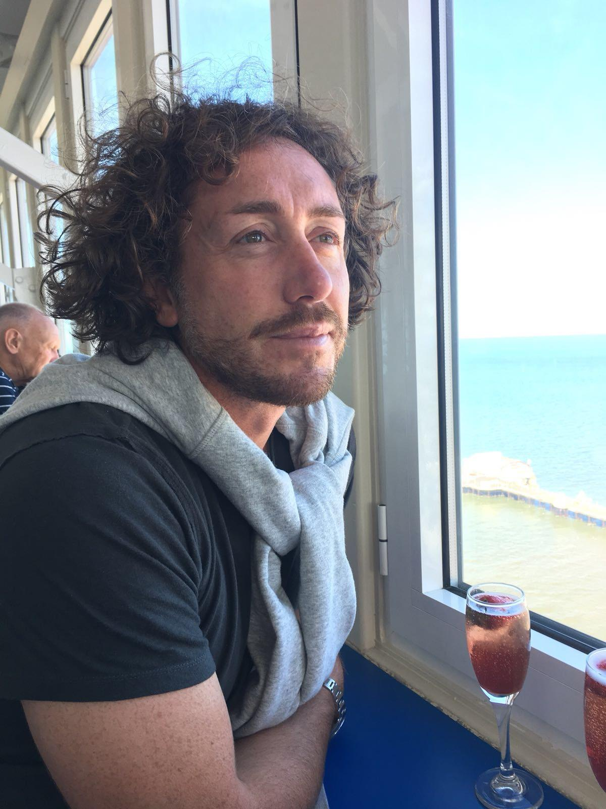 Sidebottom on a recent trip to Blackpool, where he created a bucket list to help refocus