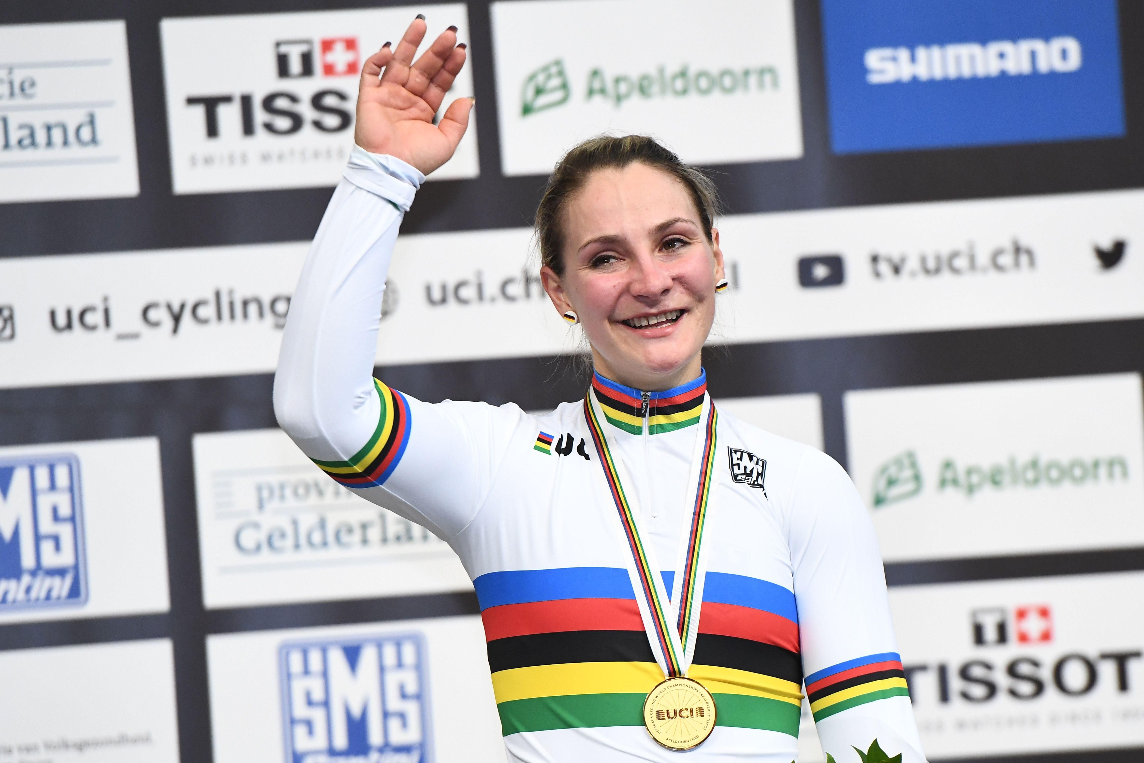 Kristina Vogel won two golds at the World Championships in March, three months before her career-ending accident
