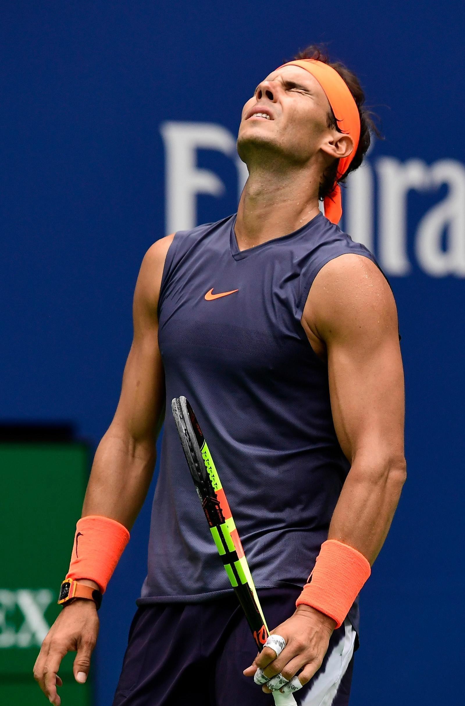 Nadal endured a frustrating evening at Flushing Meadows