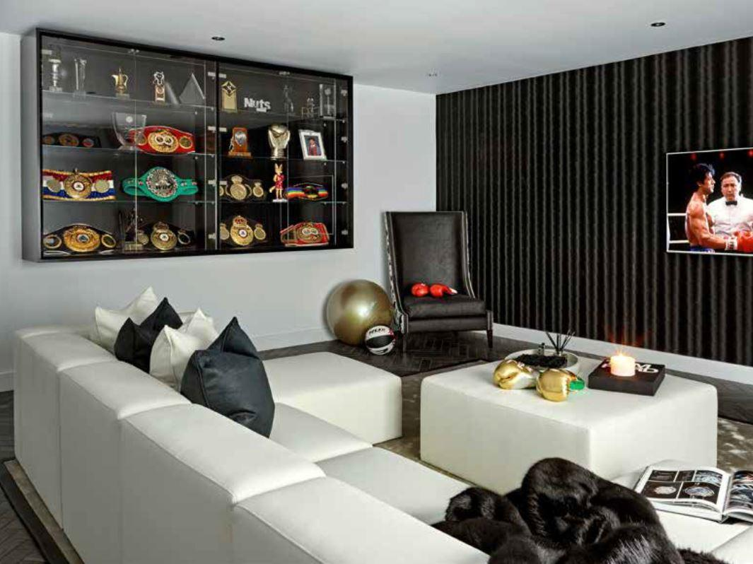 Amir Khan's luxury 'man cave' was once a garage but has been transformed as part of wife Faryal Makhdoom's £250,000 revamp