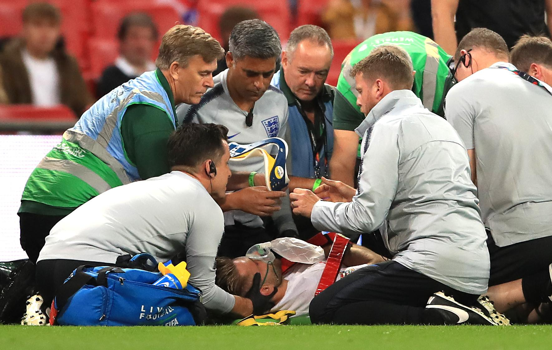 Luke Shaw suffered a nasty head injury during the match - and was carried off on a stretcher