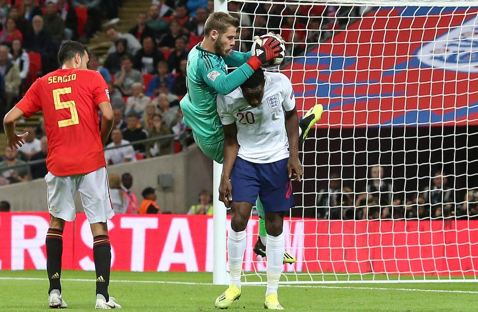 De Gea fell on to Welbeck and dropped the ball, giving him the chance to tap home - but this was deemed a foul