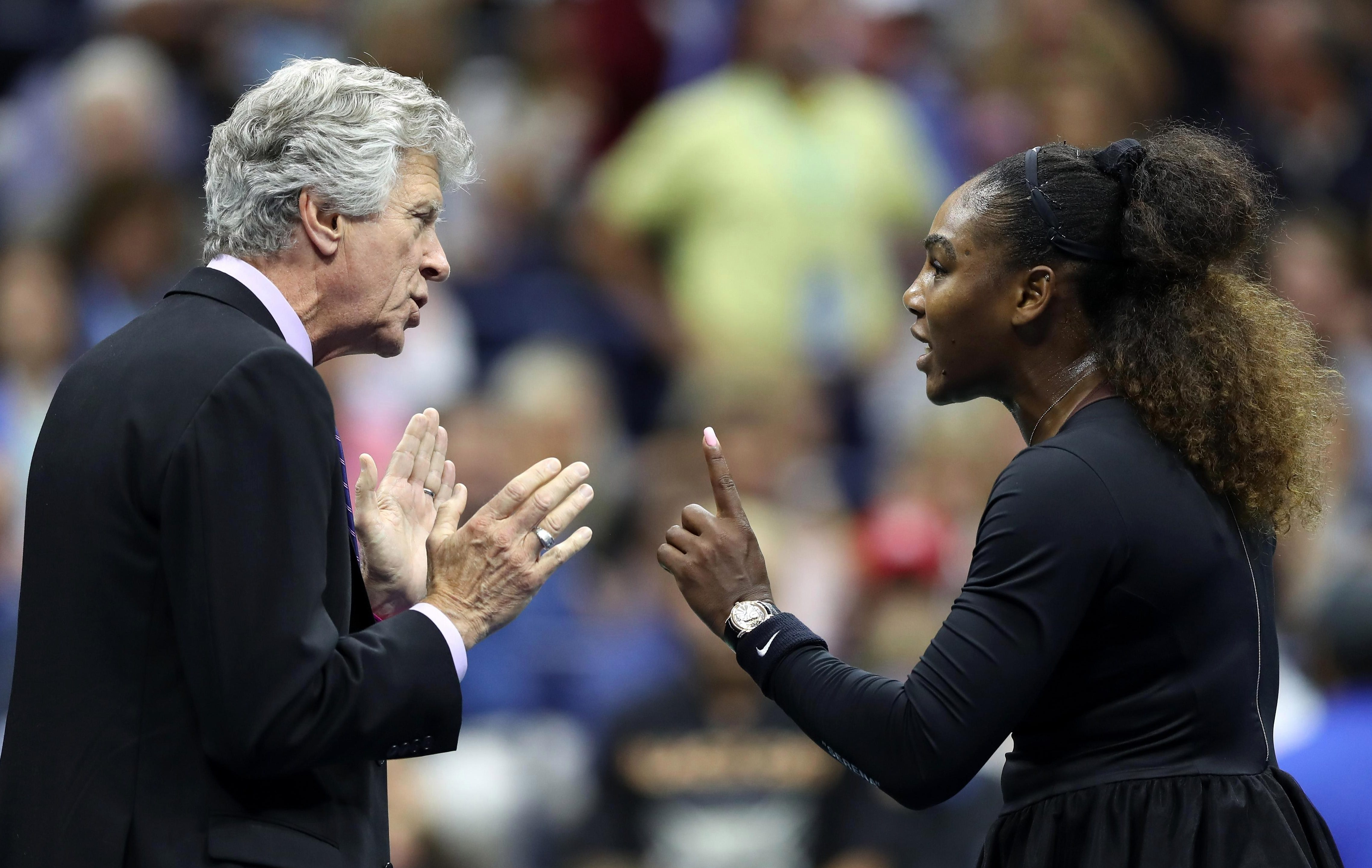 Serena Williams blasts the umpire during her US Open defeat to Naomi Osaka