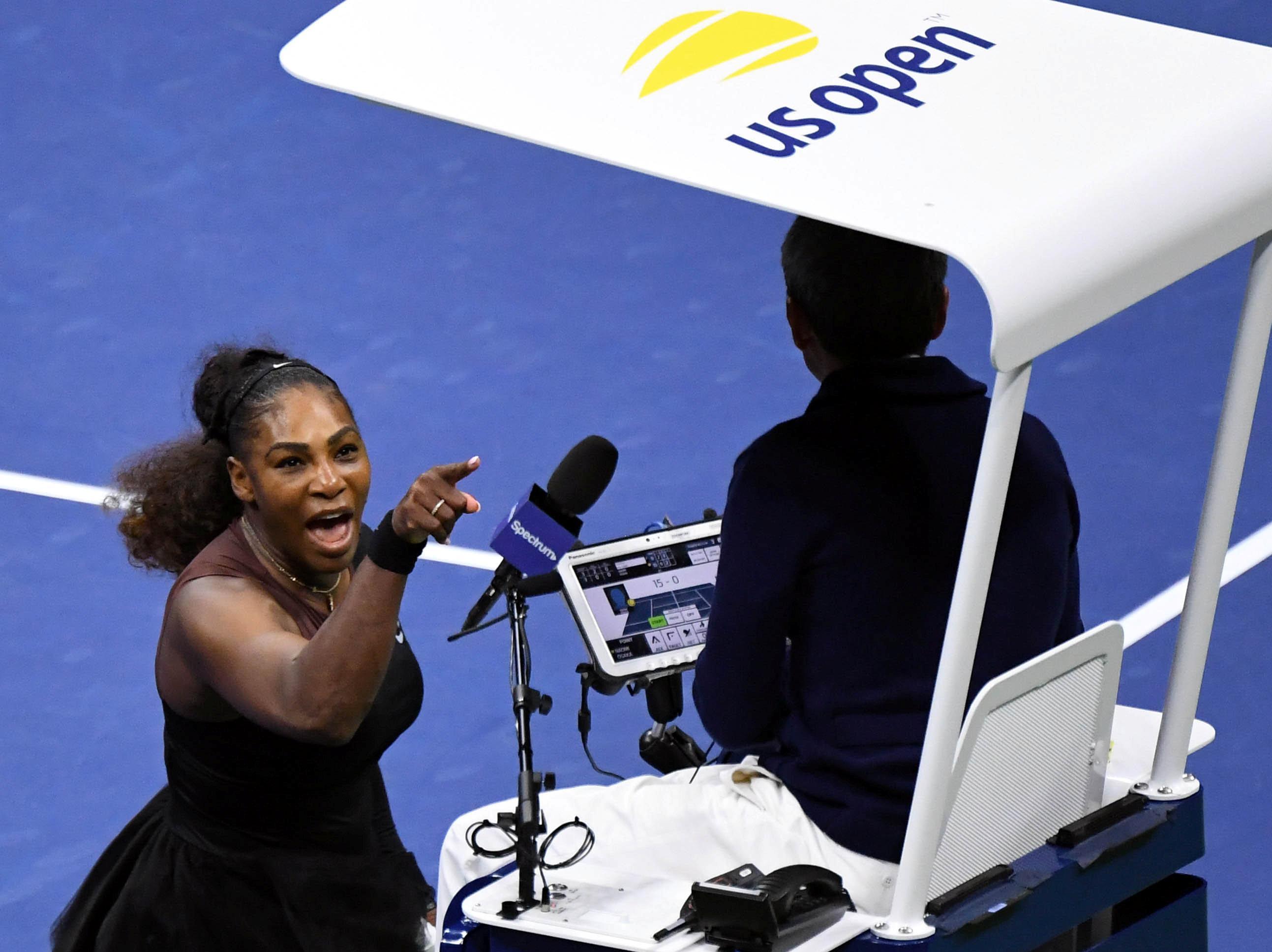 Serena Williams rages at umpire Carlos Ramos