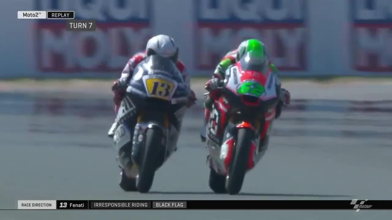 Romano Fenati was disqualified after the shocking incident