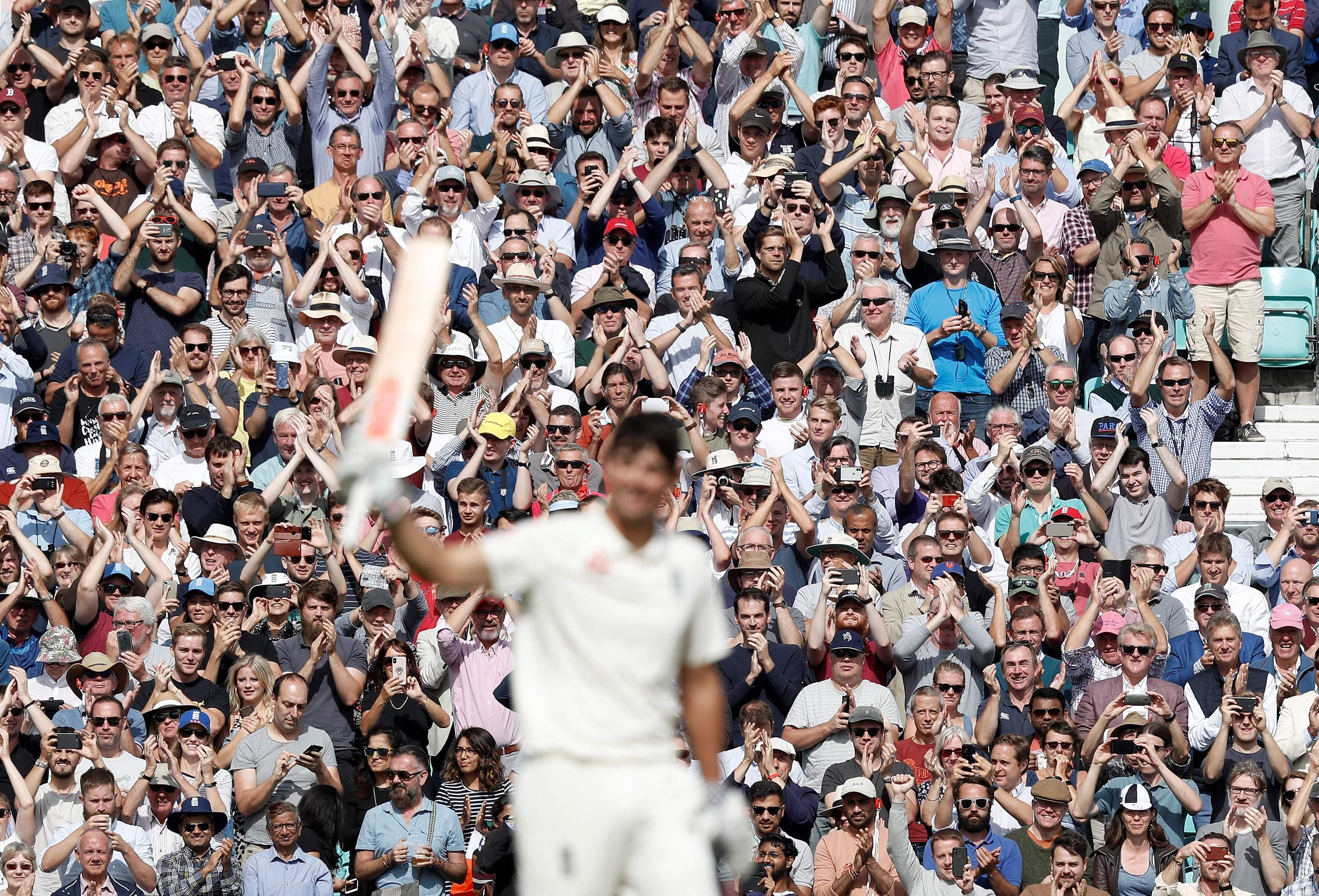 The Oval crowd cheered and sang his name throughout the day but he could only soak in one applause