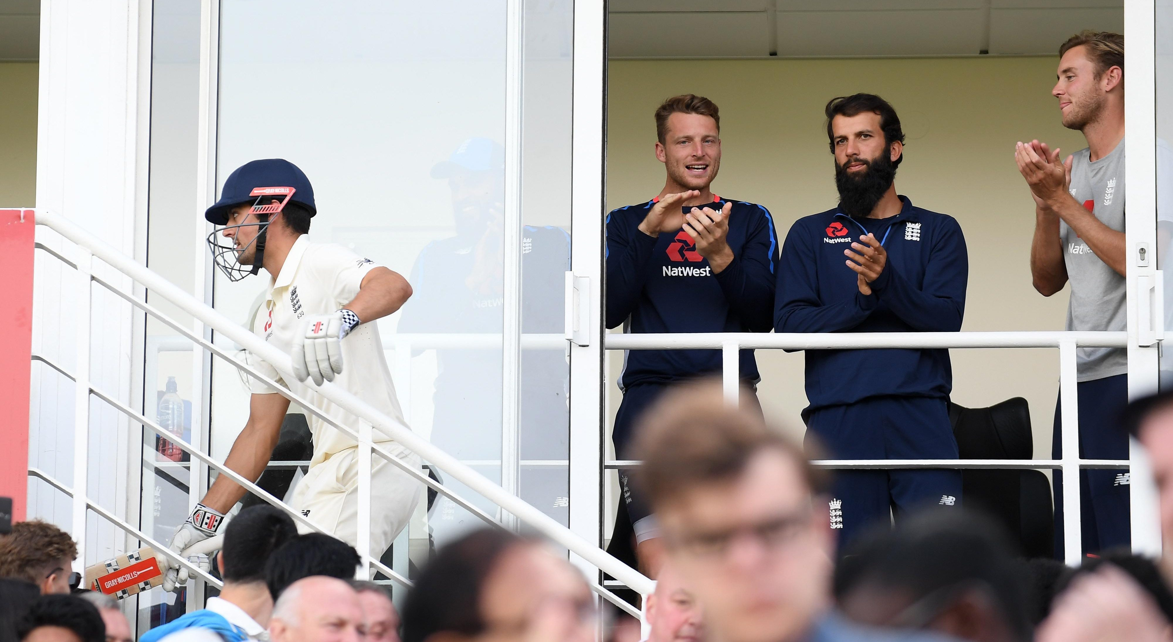 The elation and excitement in the pavilion was clear to see when the former captain reached his century