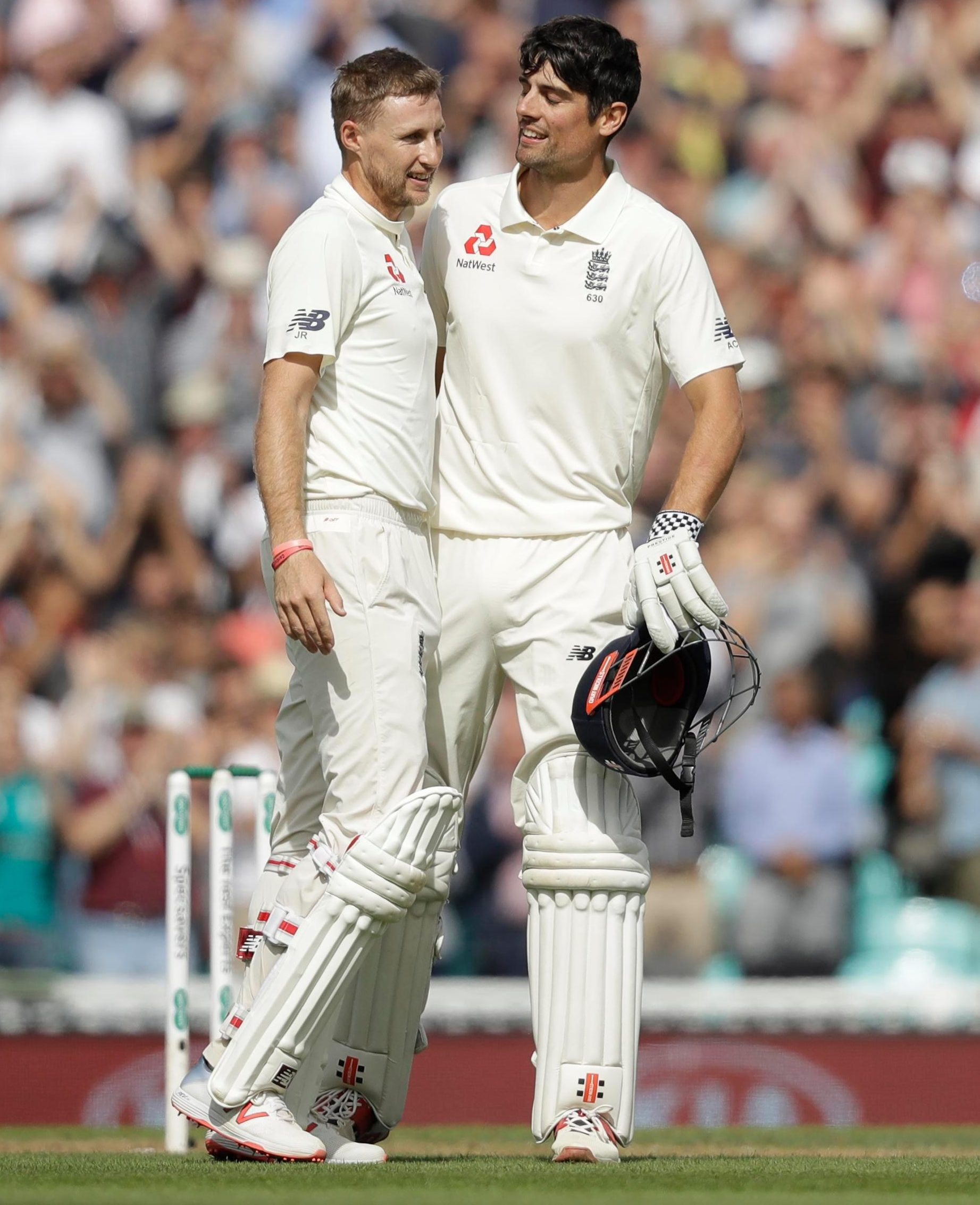 Joe Root embraced his predecessor as England captain as he secured a 33rd Test hundred thanks to an overthrow