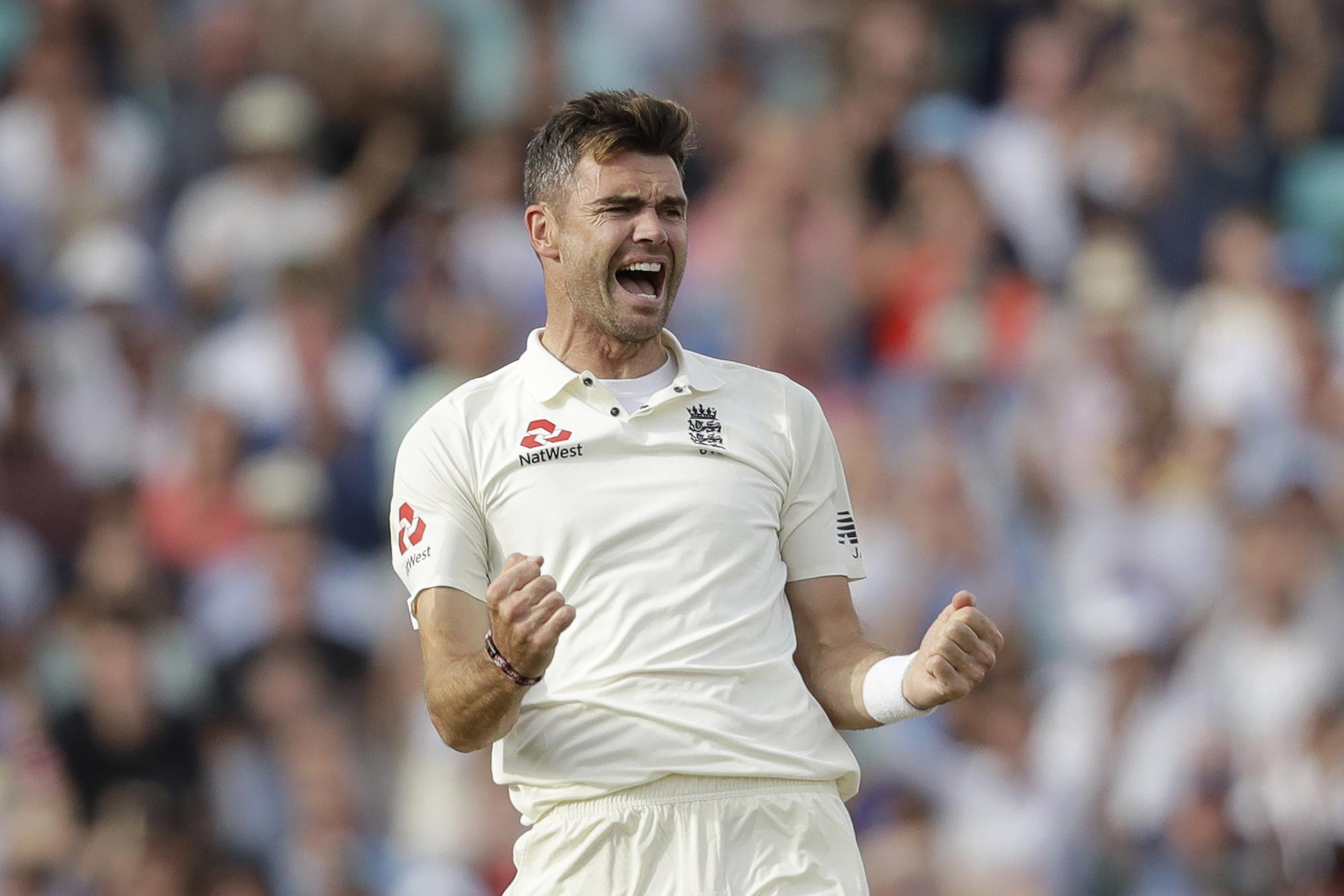 Jimmy Anderson took India's final wicket at the Oval