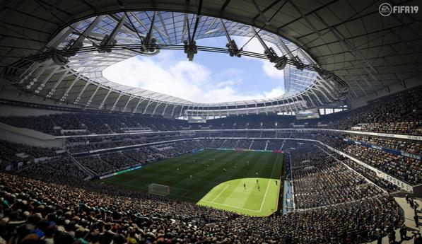 The new stadium can be seen in all of its glory on Fifa 19
