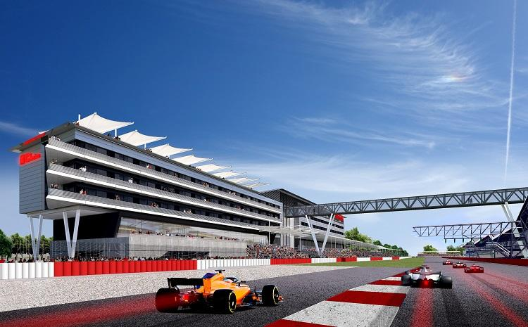 Hilton's exclusive location will offer views of the race from balconies