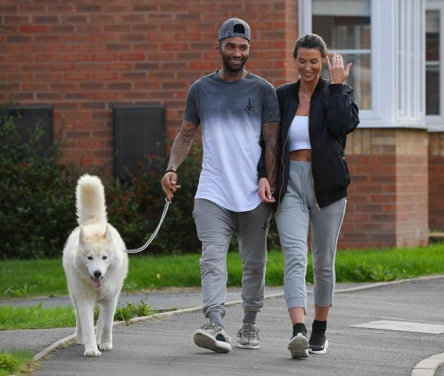Jermaine Pennant And Wife Alice Goodwin Looked Back On Track As They Took Their Dog For