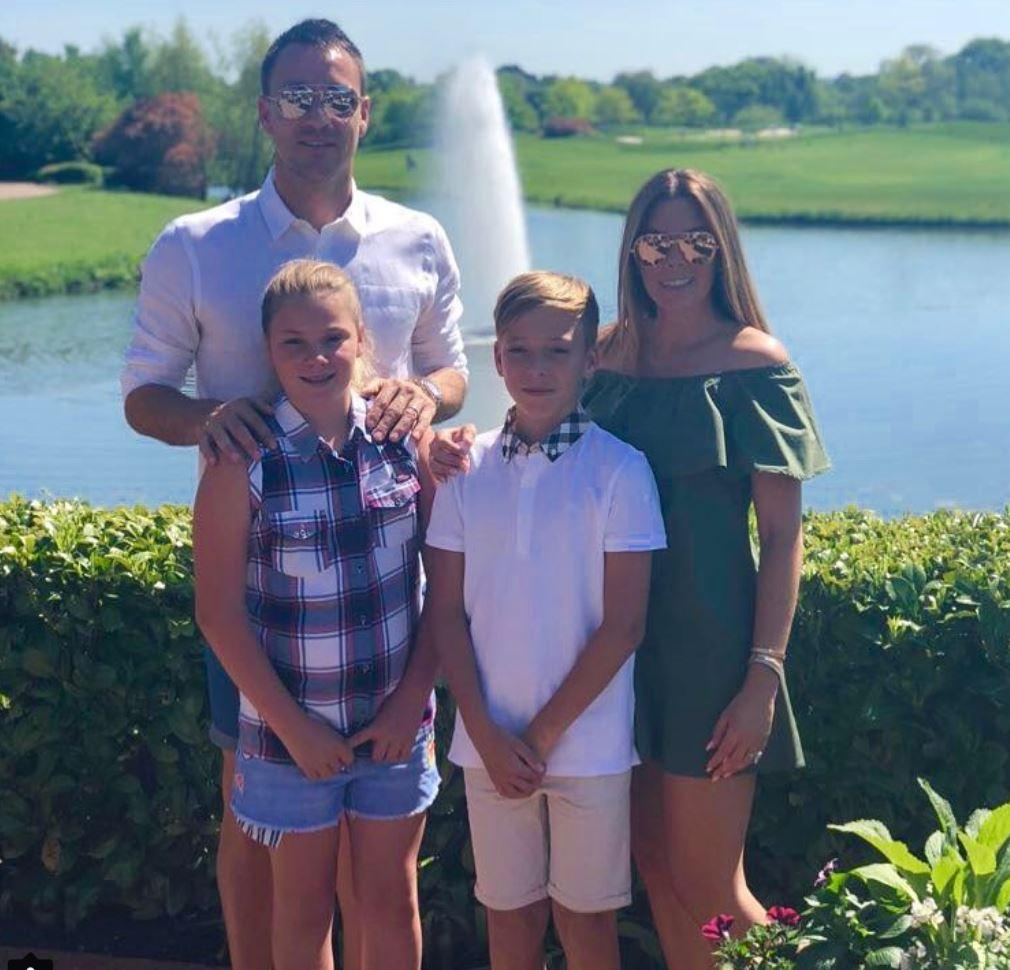 John Terry, pictured with his wife Toni and kids Summer Rose and Georgie John, says he has rejected the move for family reasons