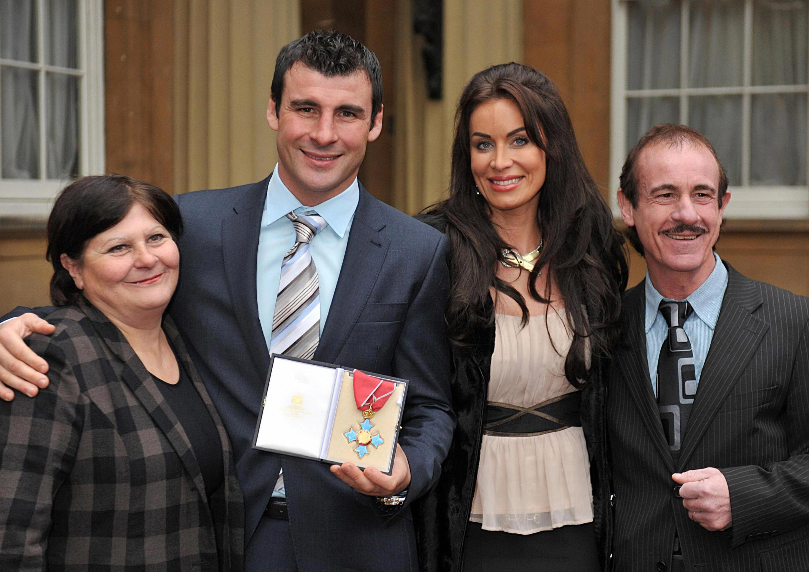 Enzo Calzaghe's wife Jackie (left) when son Joe received his CBE in 2008