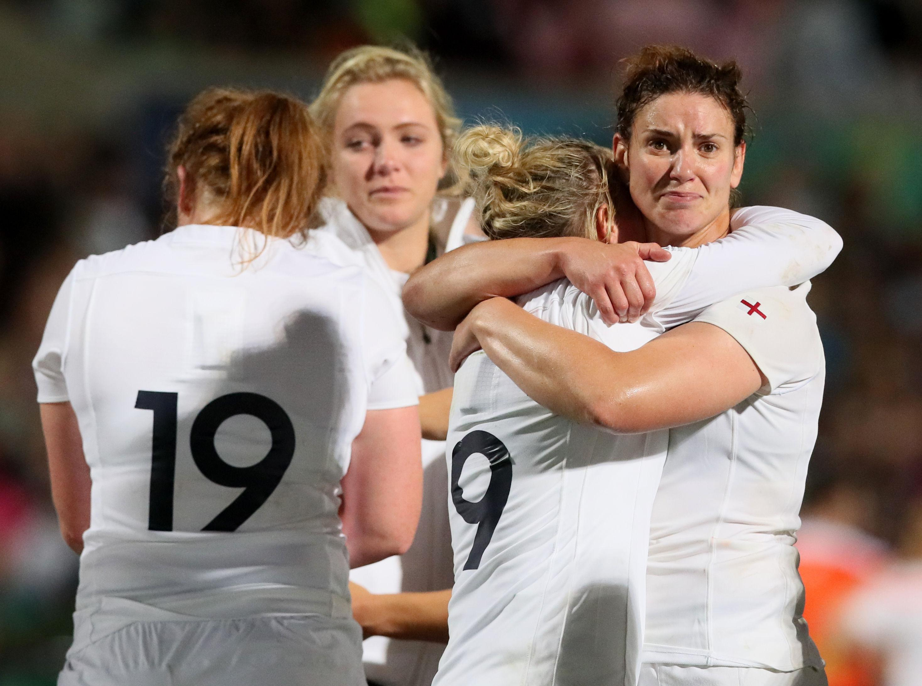 England women's at last year's world cup final against New Zealand - they have FINALLY been handed pro deals by the RFU