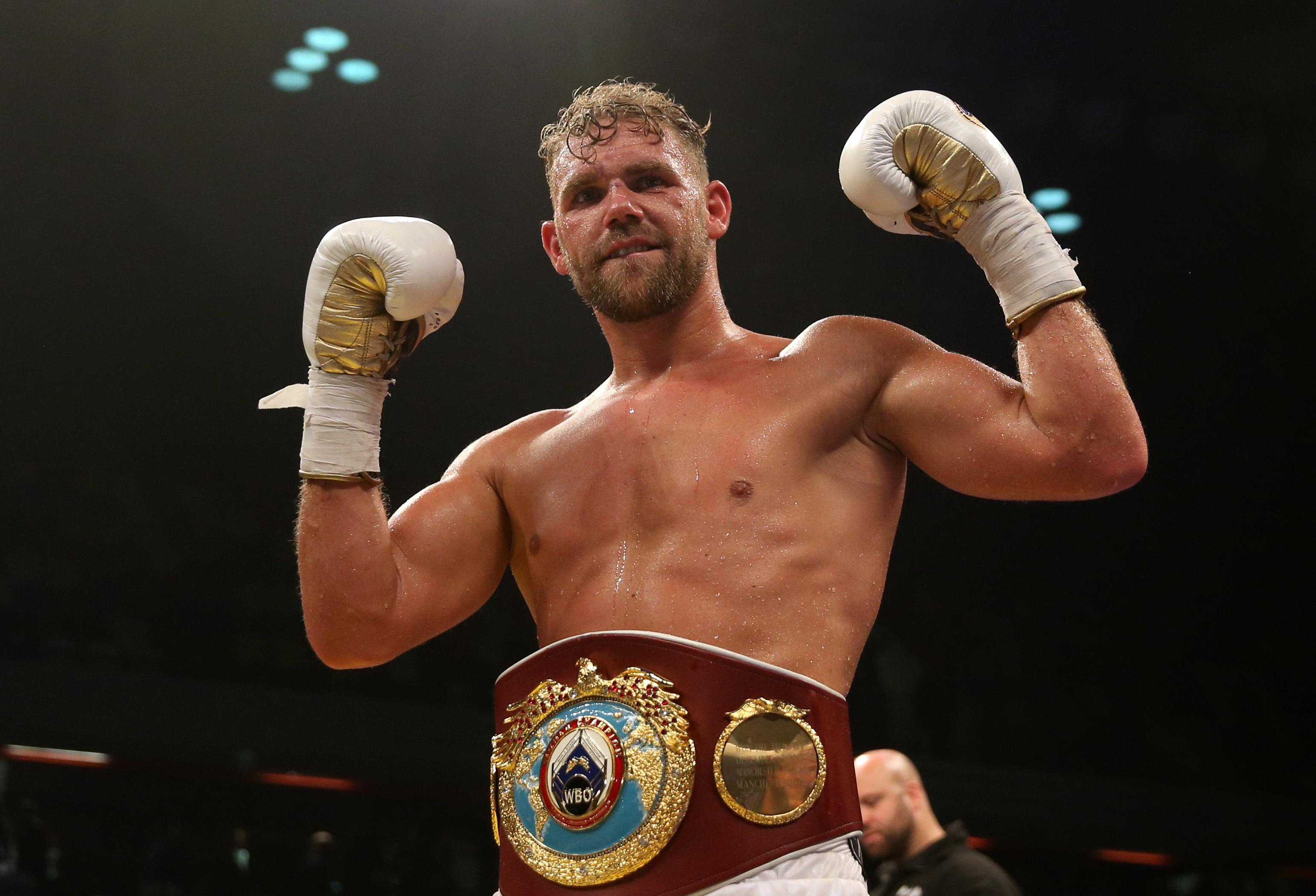 Saunders is WBO middleweight champion - but his licence to box is now under threat after being charged with misconduct