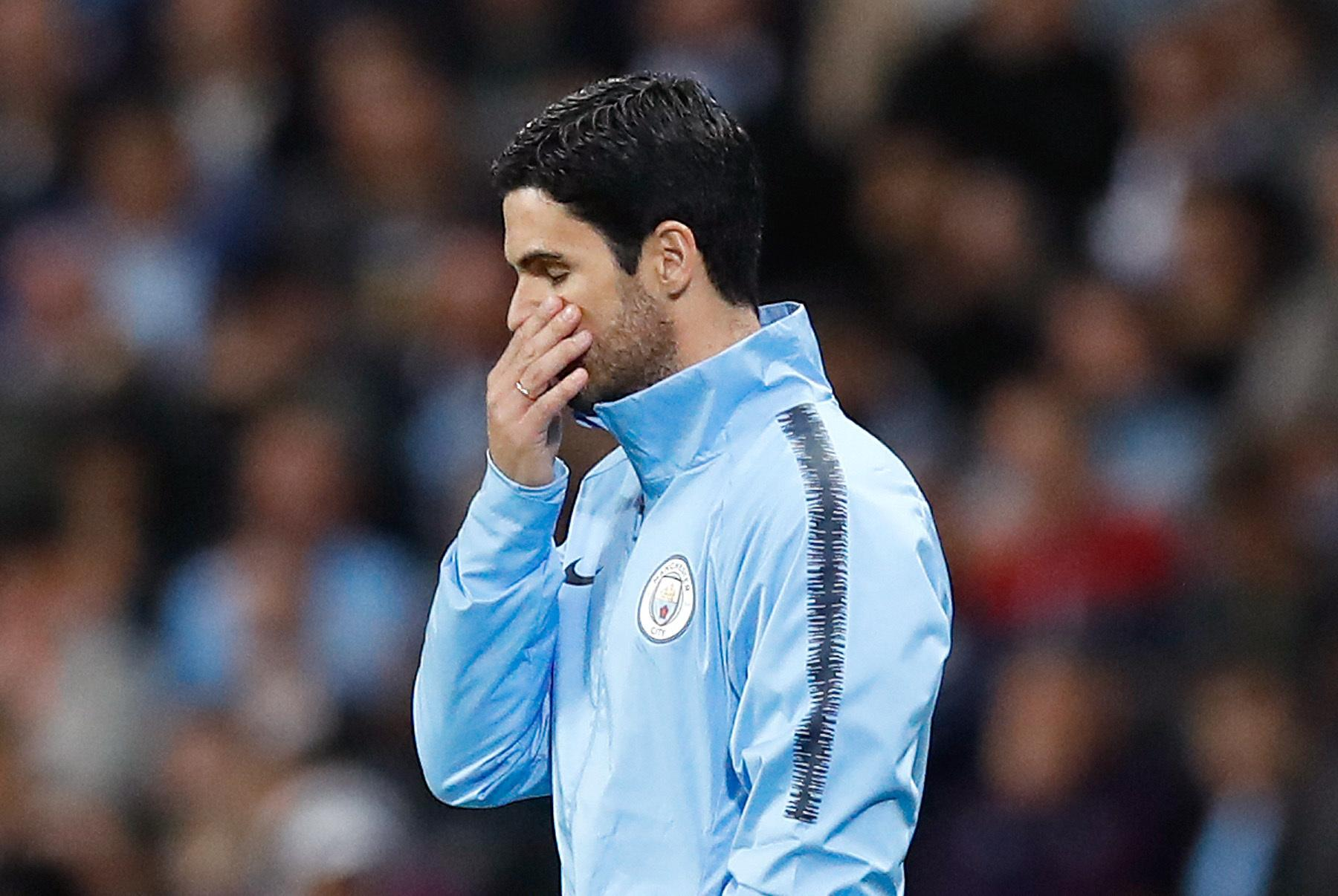 Mikel Arteta couldn't inspire his side to victory after stepping for the suspended Guardiola