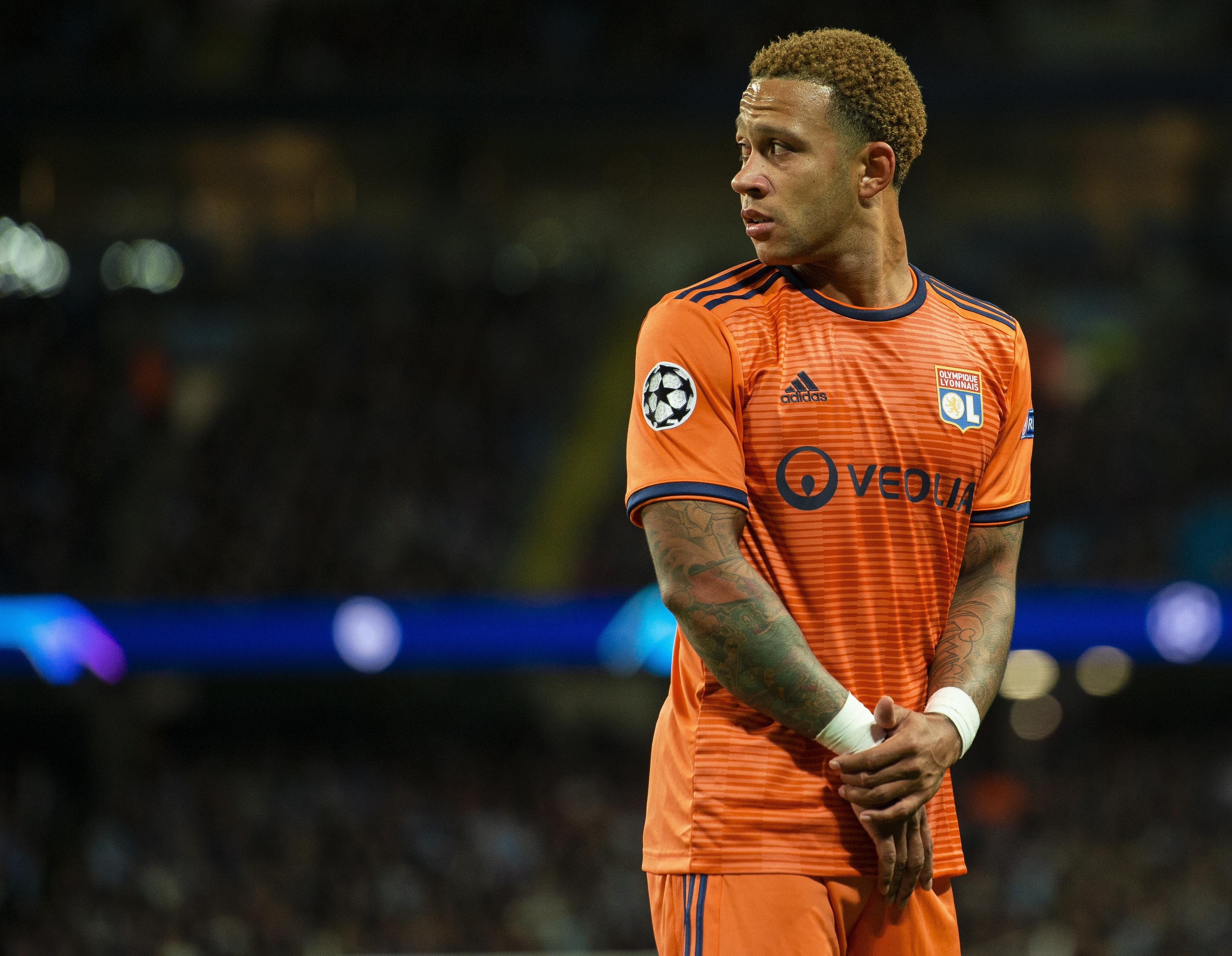 Memphis Depay was outstanding as Lyon beat Manchester City on Wednesday