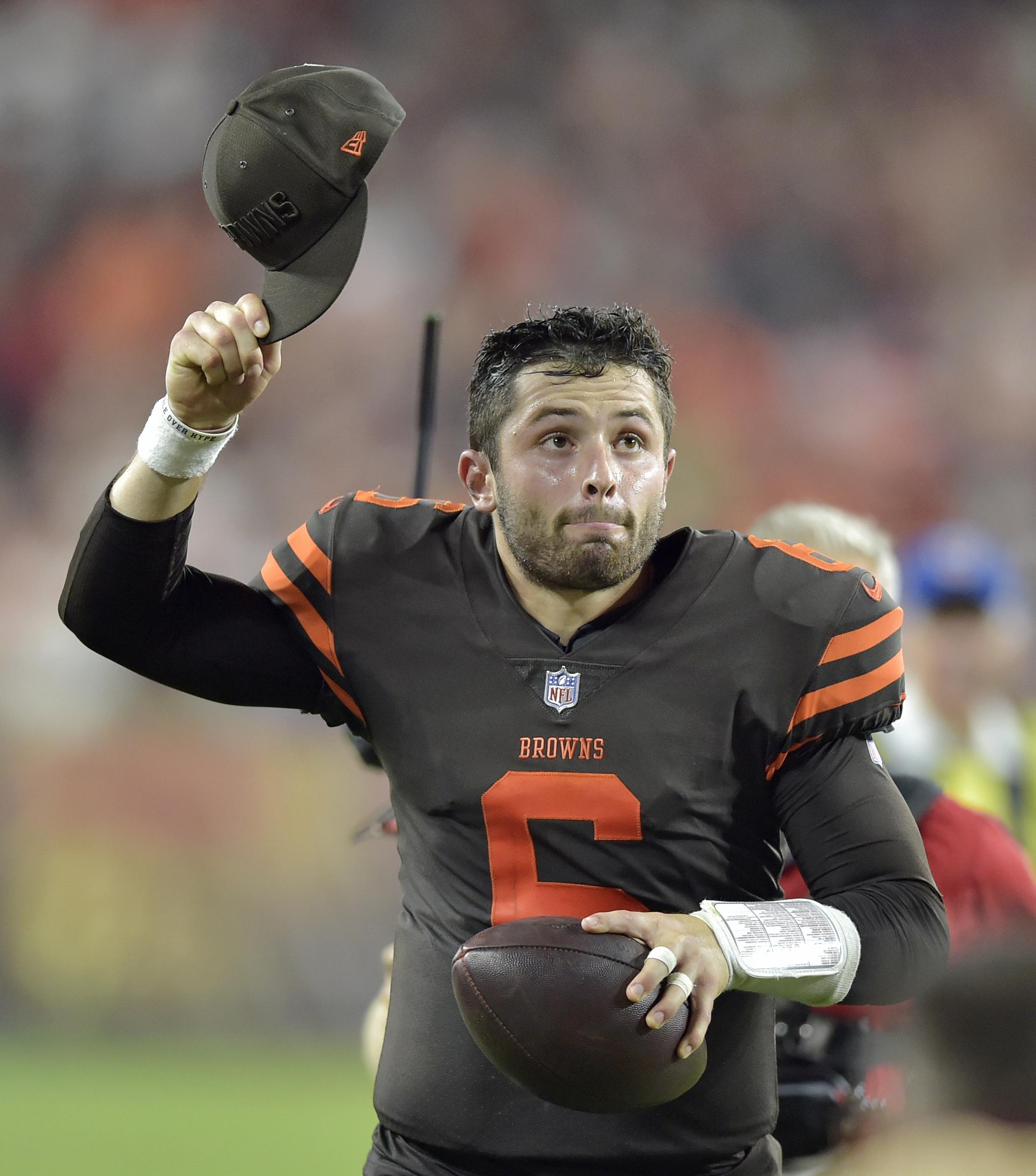 Baker Mayfield shone on his debut as the Browns overturned a 14-0 deficit