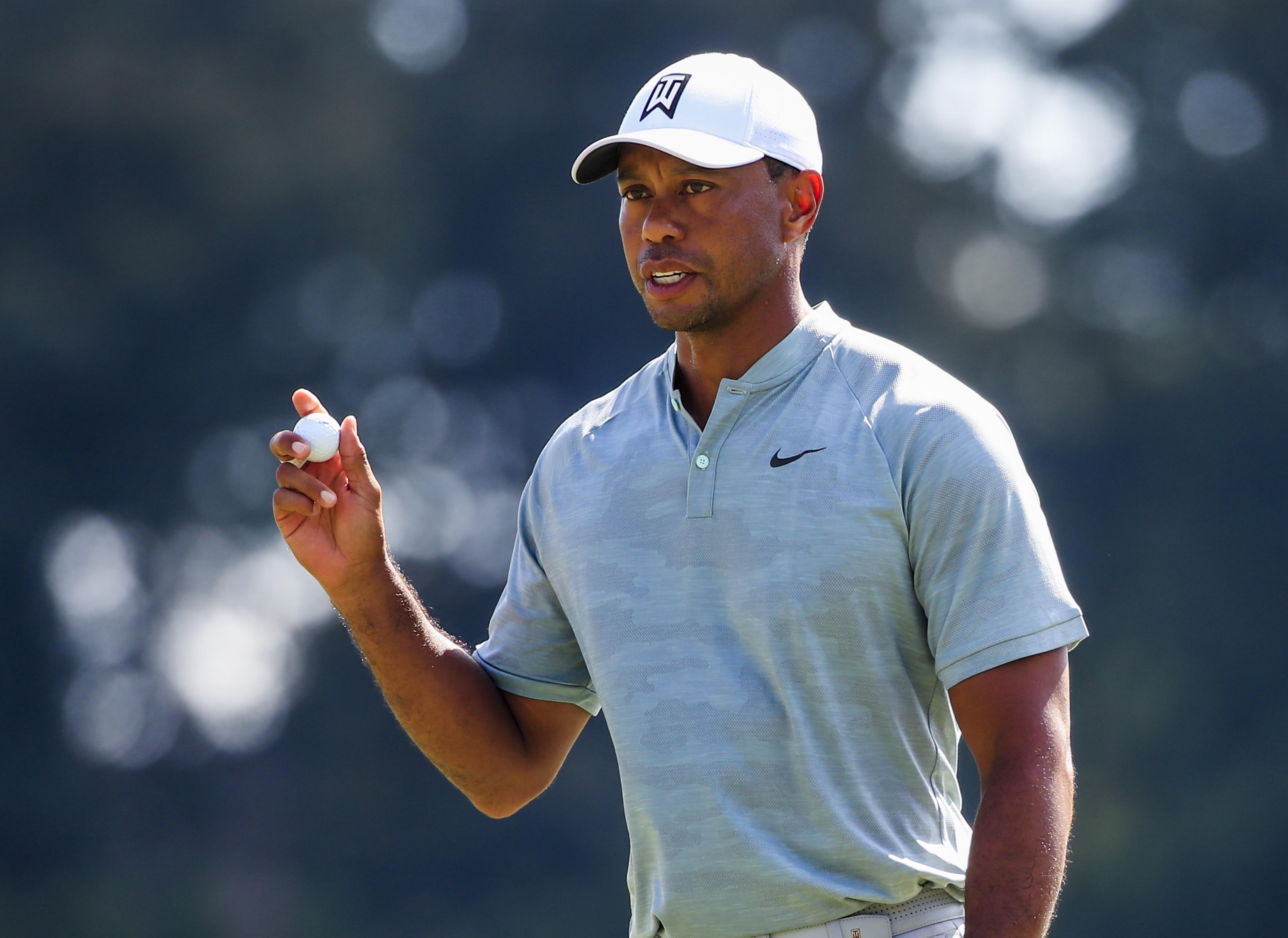 Woods is bidding for his first victory since 2013