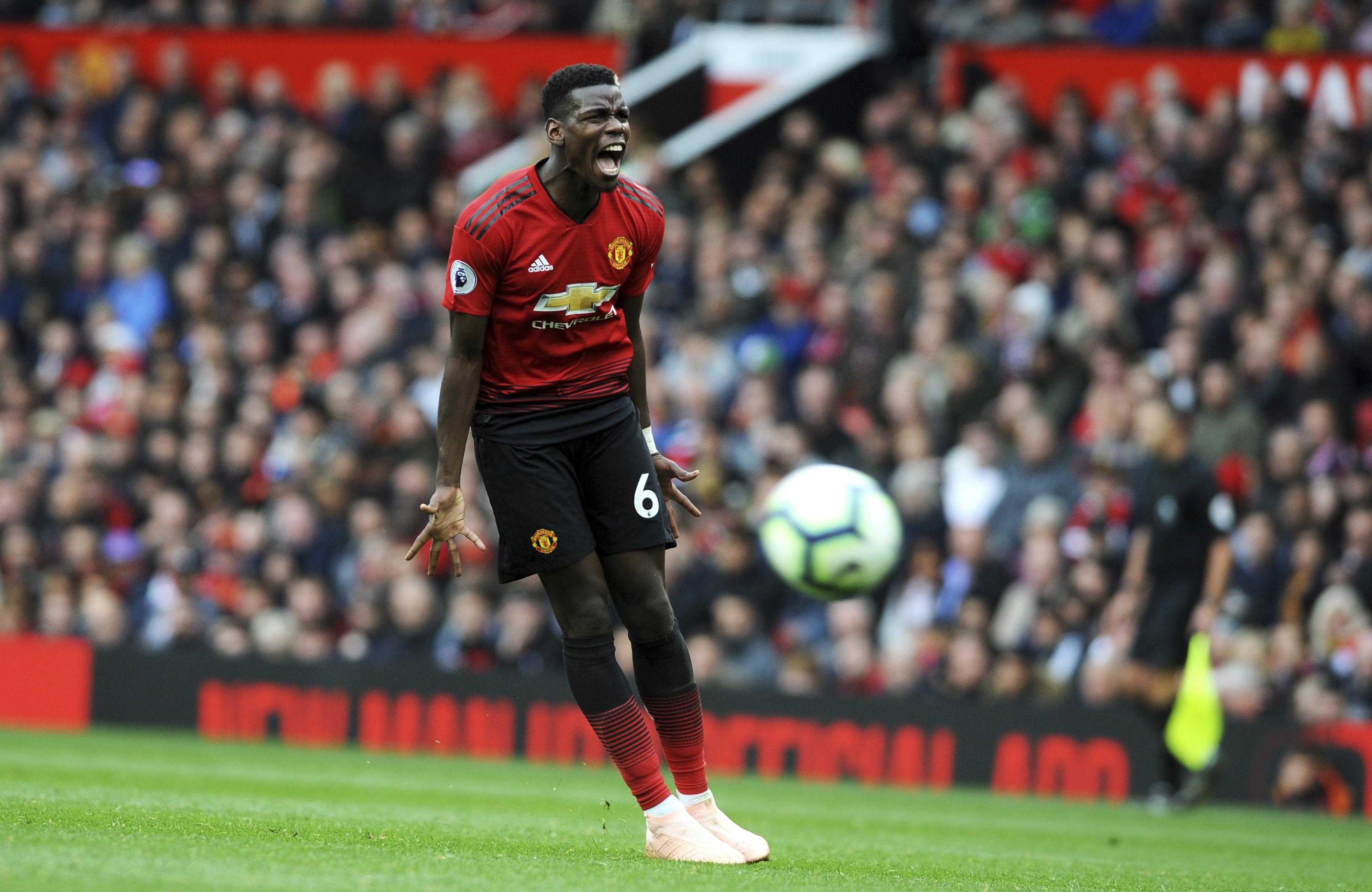 Paul Pogba continues to cut a frustrated figure in midfield
