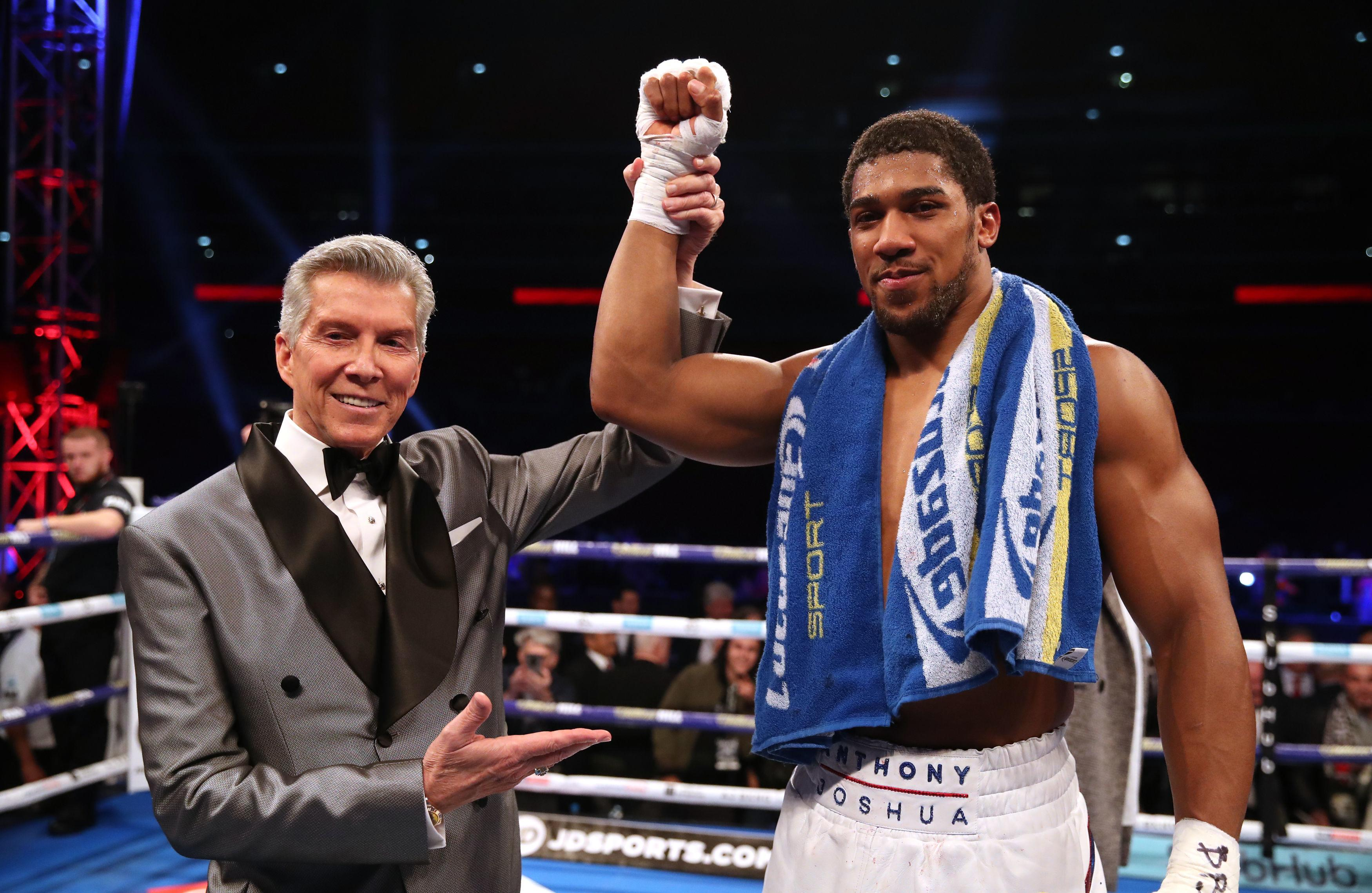 The American has his sights set on heavyweight champ Anthony Joshua
