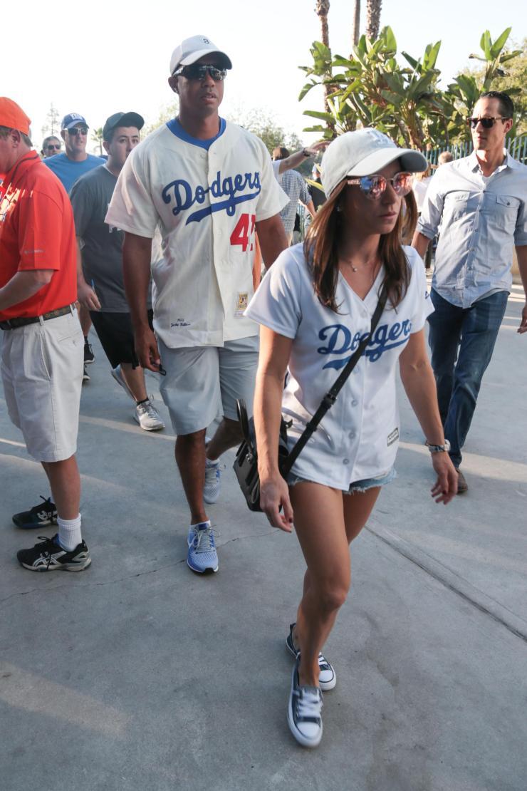 Tiger and Erica at Dodger stadium in LA