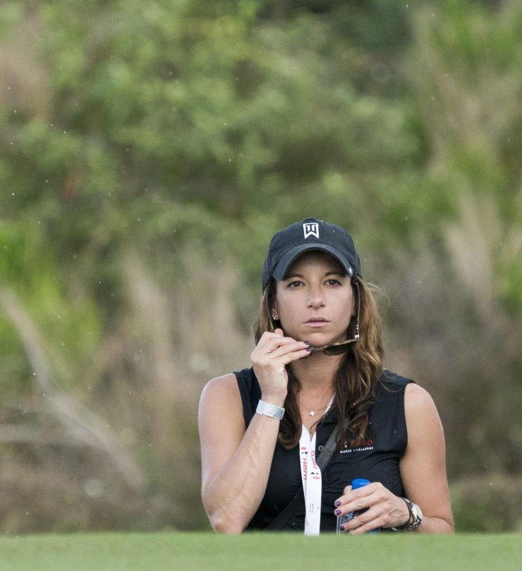 Erica on the 11th hole during the Hero World Challenge tournament in the Bahamas in November 2017