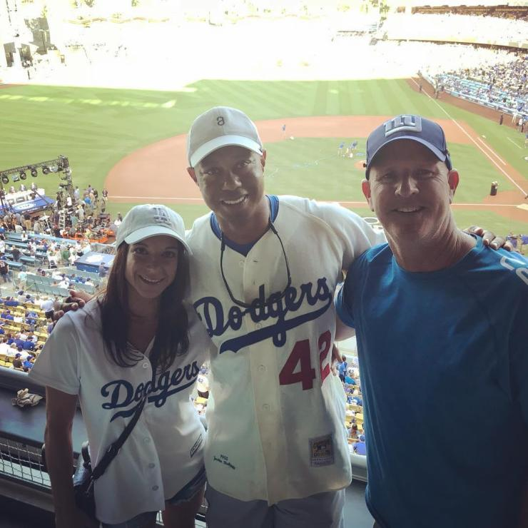 Tiger and Erica at the World Series