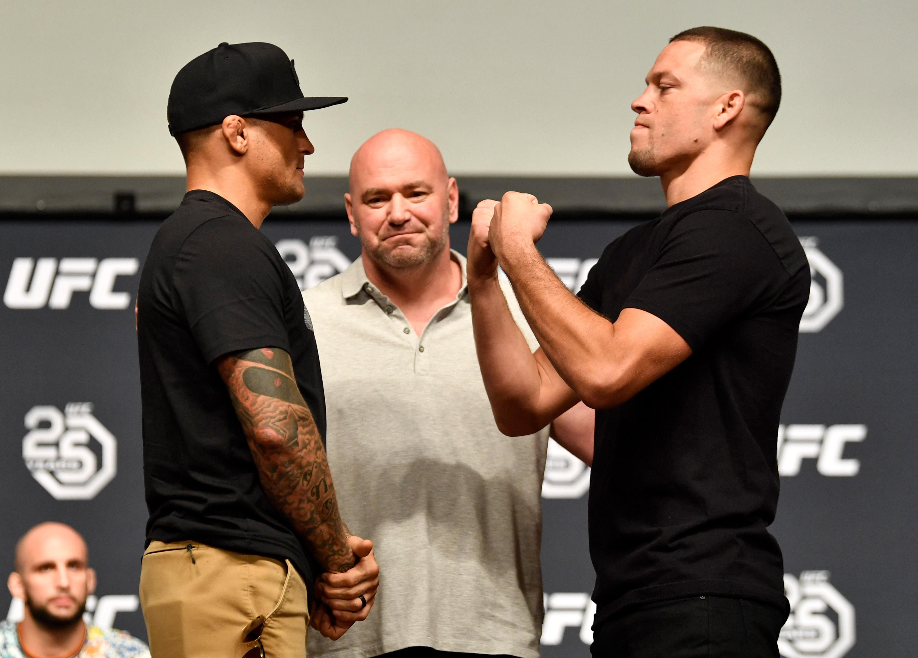 Nate Diaz and Dustin Poirier both tweeted out that they would be fighting in a new 165lbs weight division