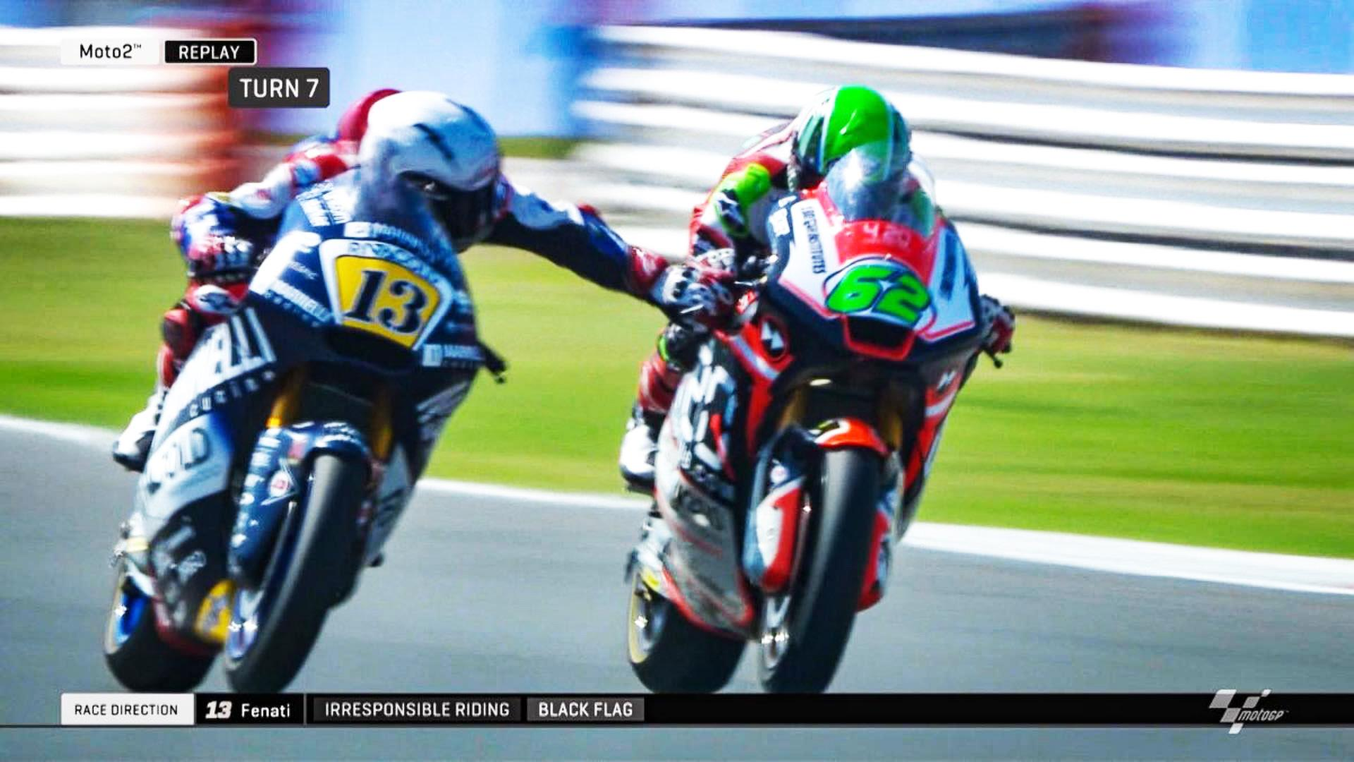This was the shocking moment Romano Fenati put another racer's life in danger