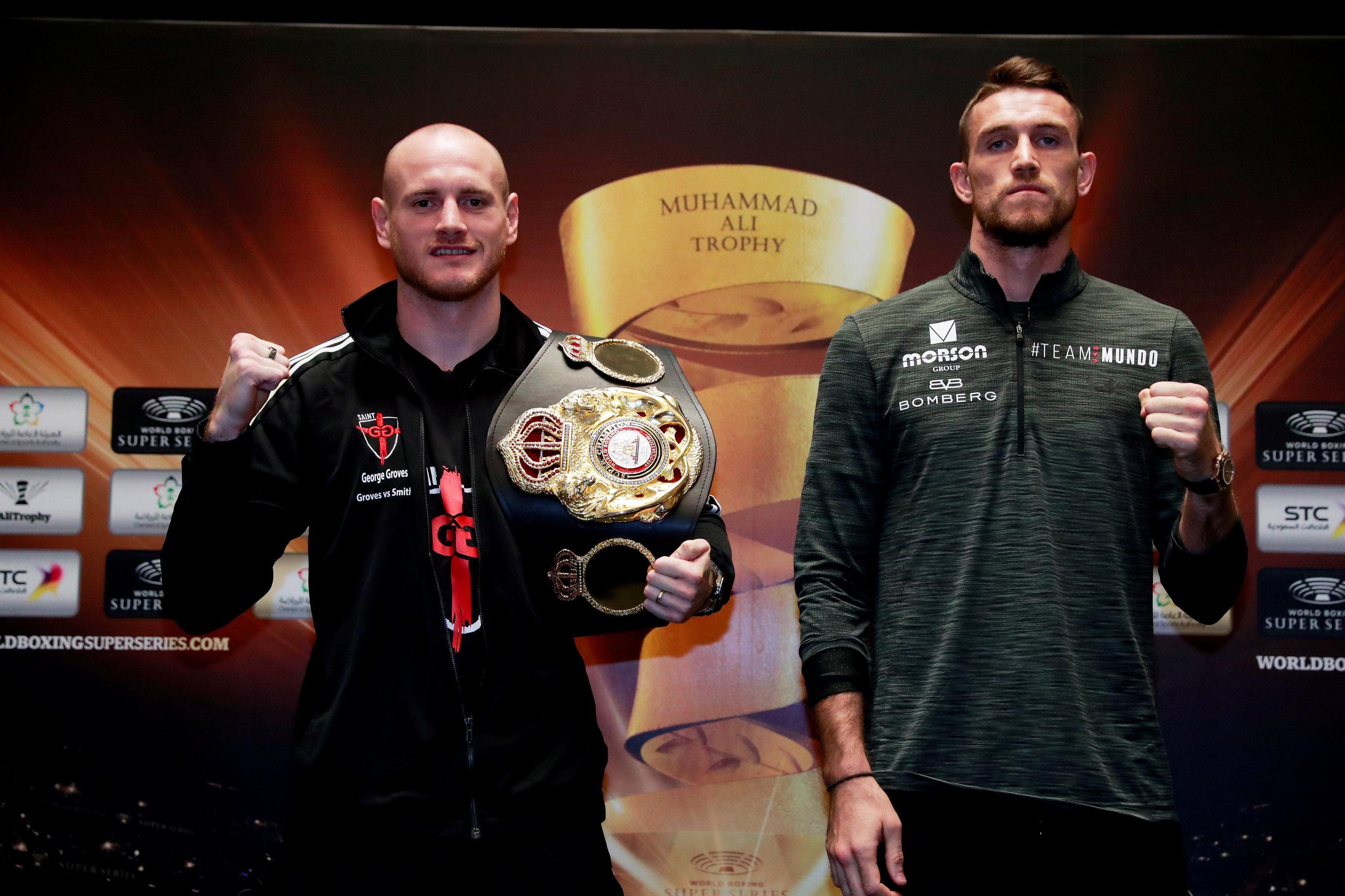 George Groves is defending his WBA super-middleweight title against Callum Smith