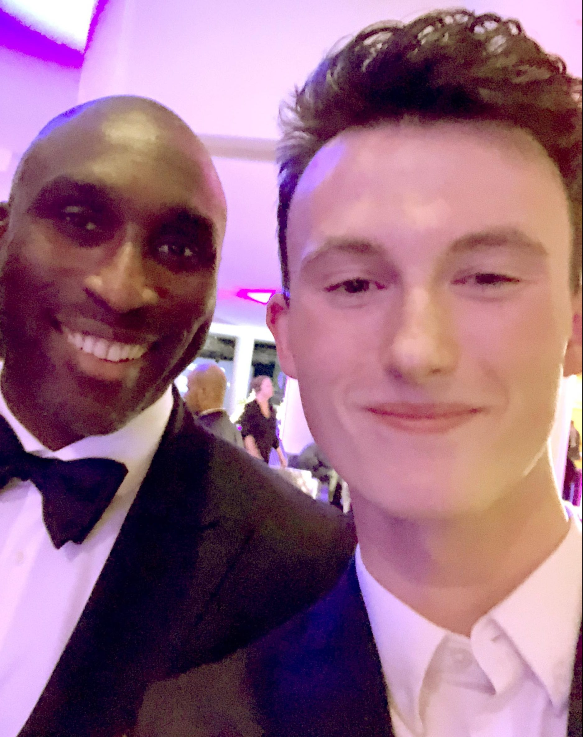 Sol Campbell, left, was also present for the chat on the dinner table