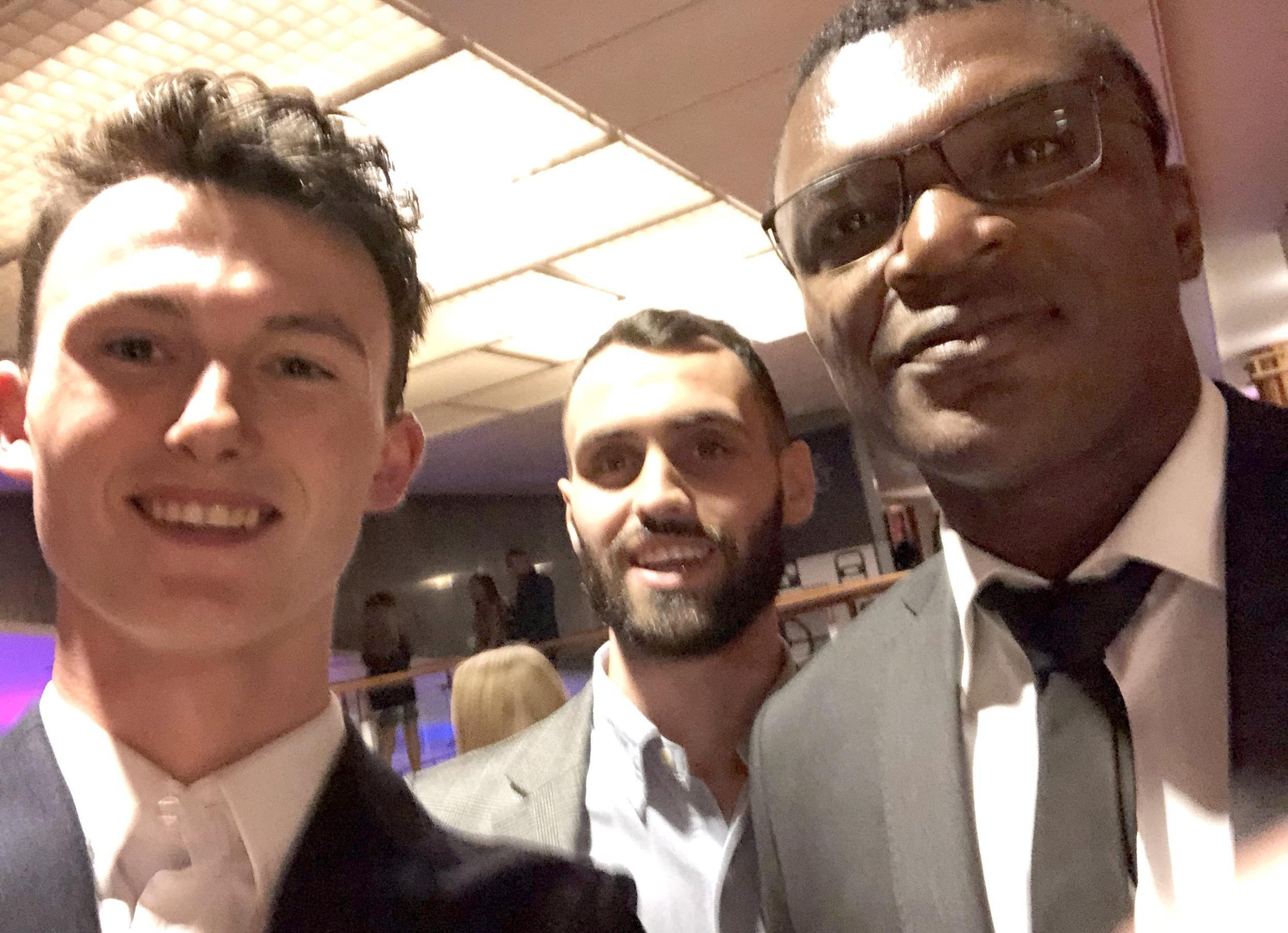 The cousins also met France legend Marcel Desailly