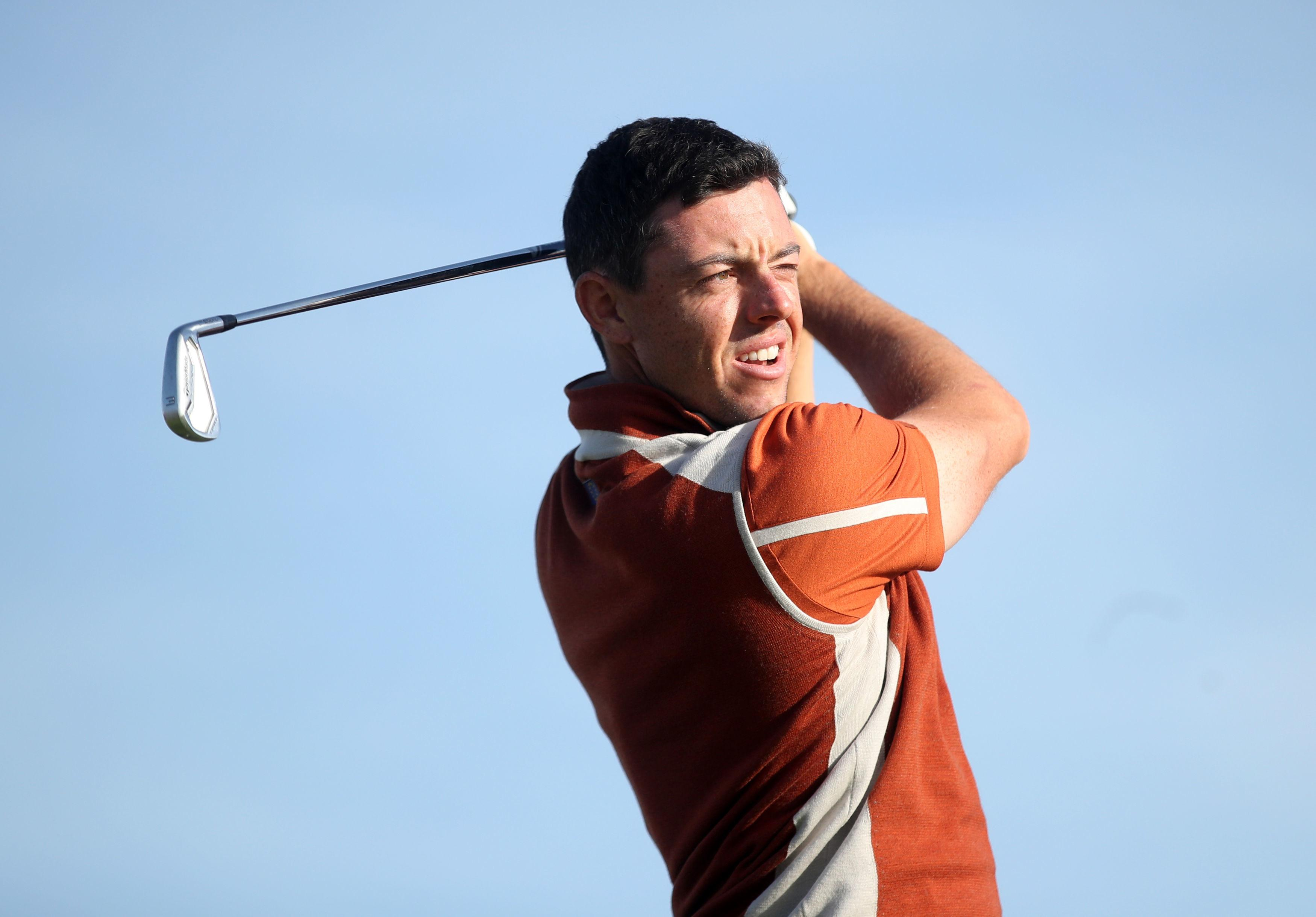 Rory opens the Sunday Singles at Le Golf National