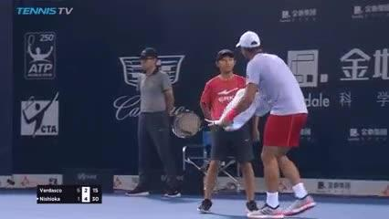 The Spaniard had a go at the kid for not bringing the towel quick enough