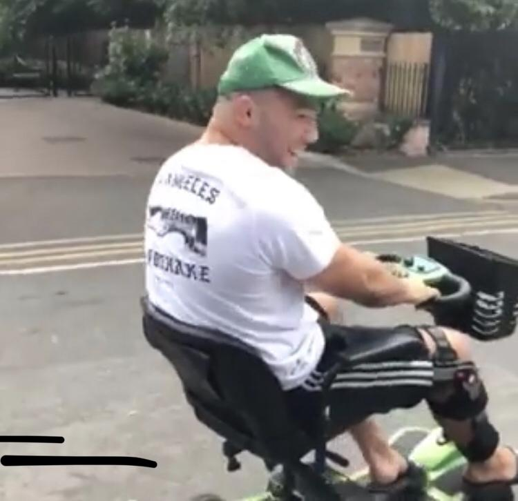Ellis Genge cruising the streets of Leicester in his new whip