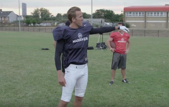 Harry Kane is an NFL enthusiast and put his skills to the test in a Madden challenge a few years ago